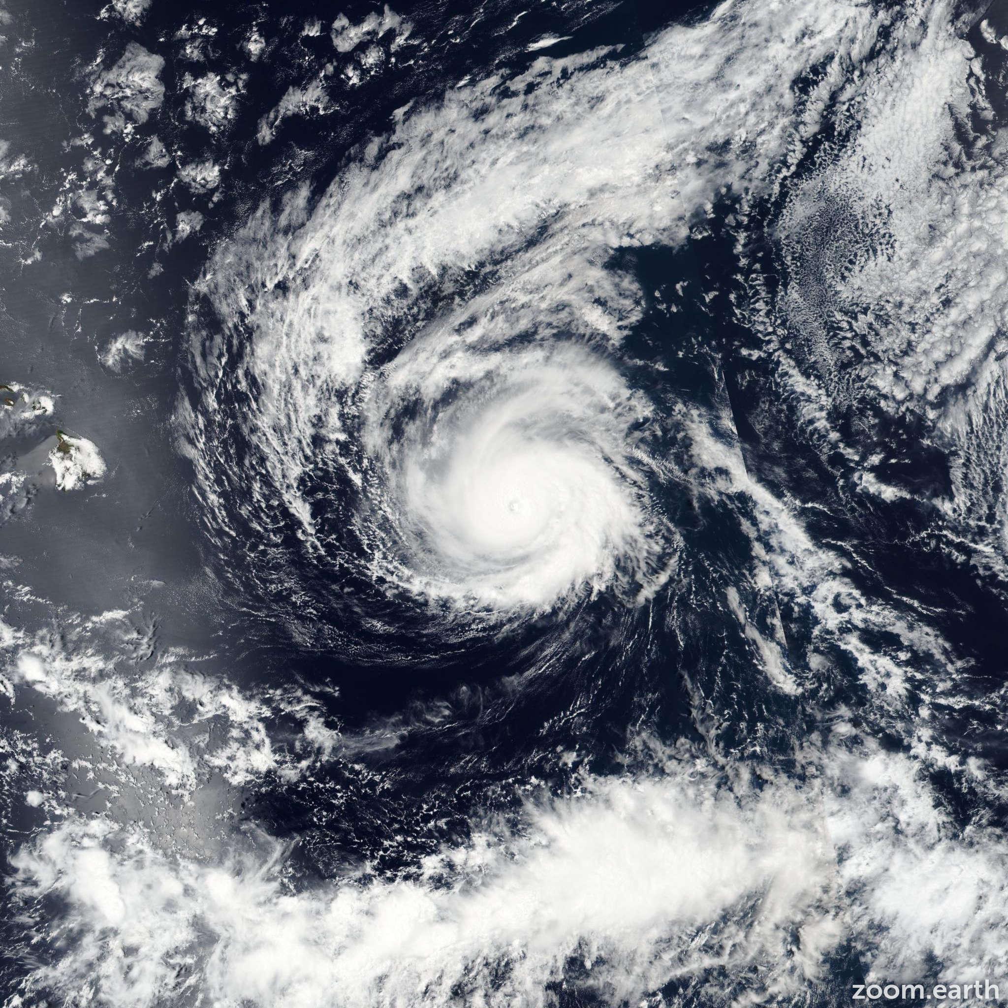 Satellite image of Hurricane Madeline 2016