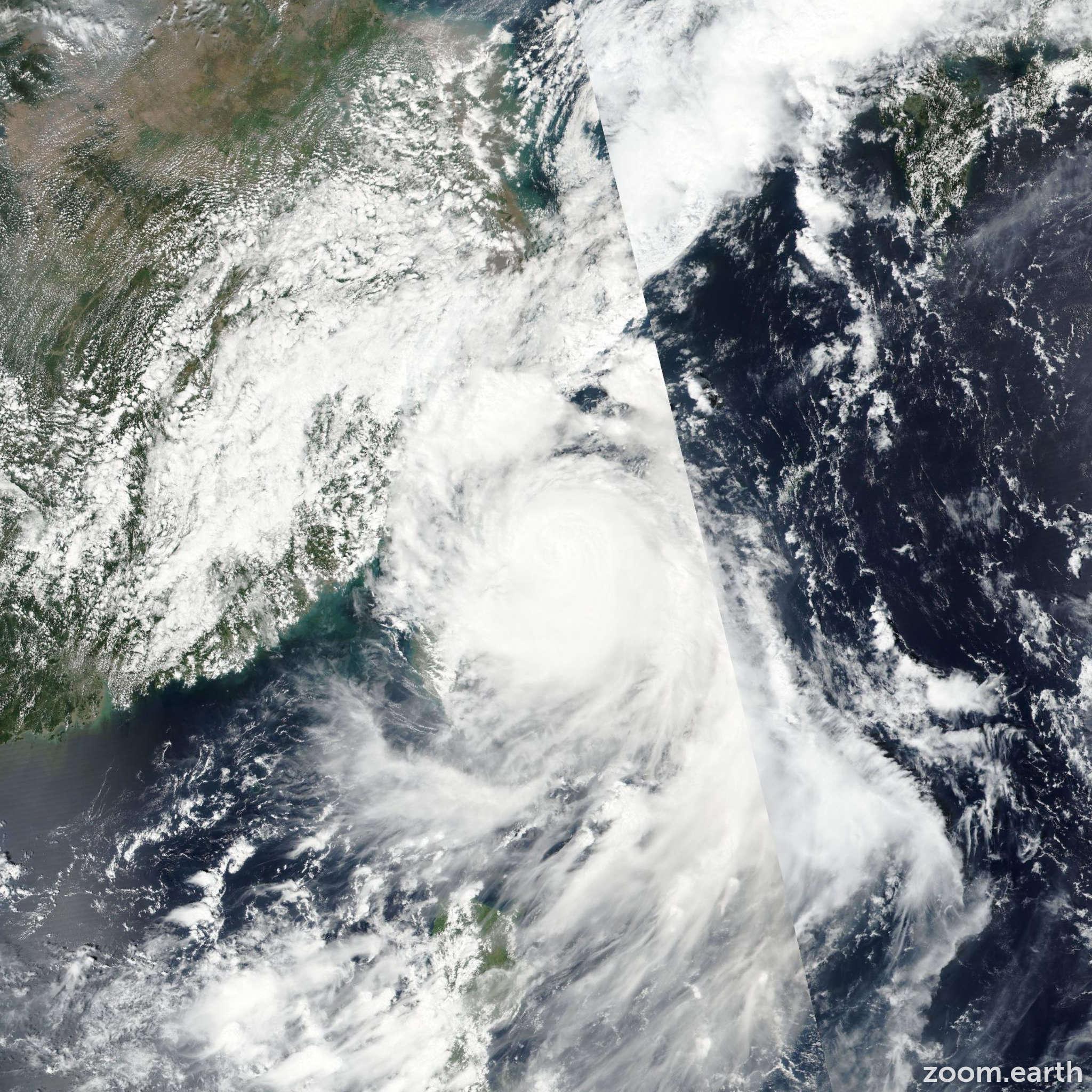 Satellite image of Typhoon Malakas 2016