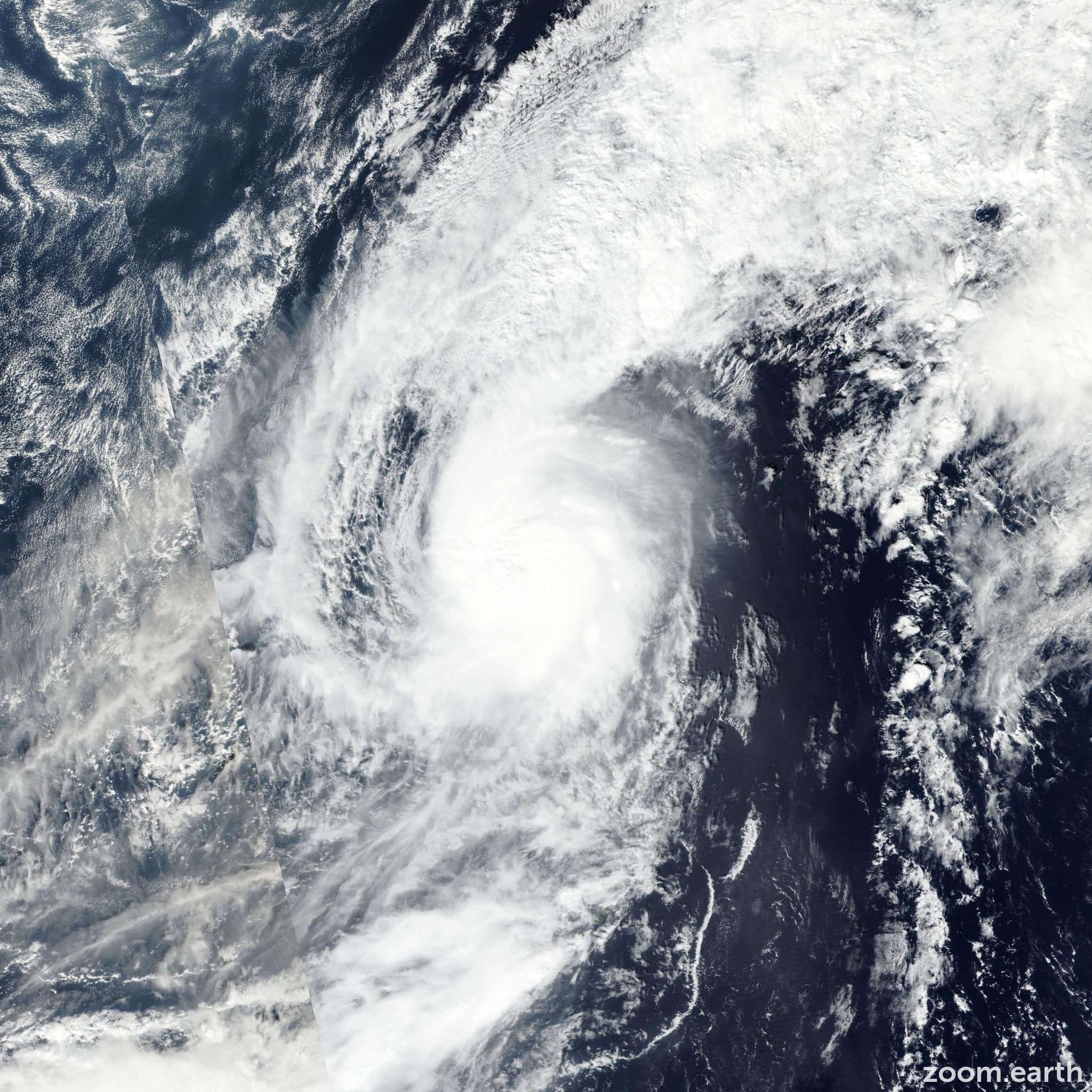 Satellite image of Typhoon Meari 2016