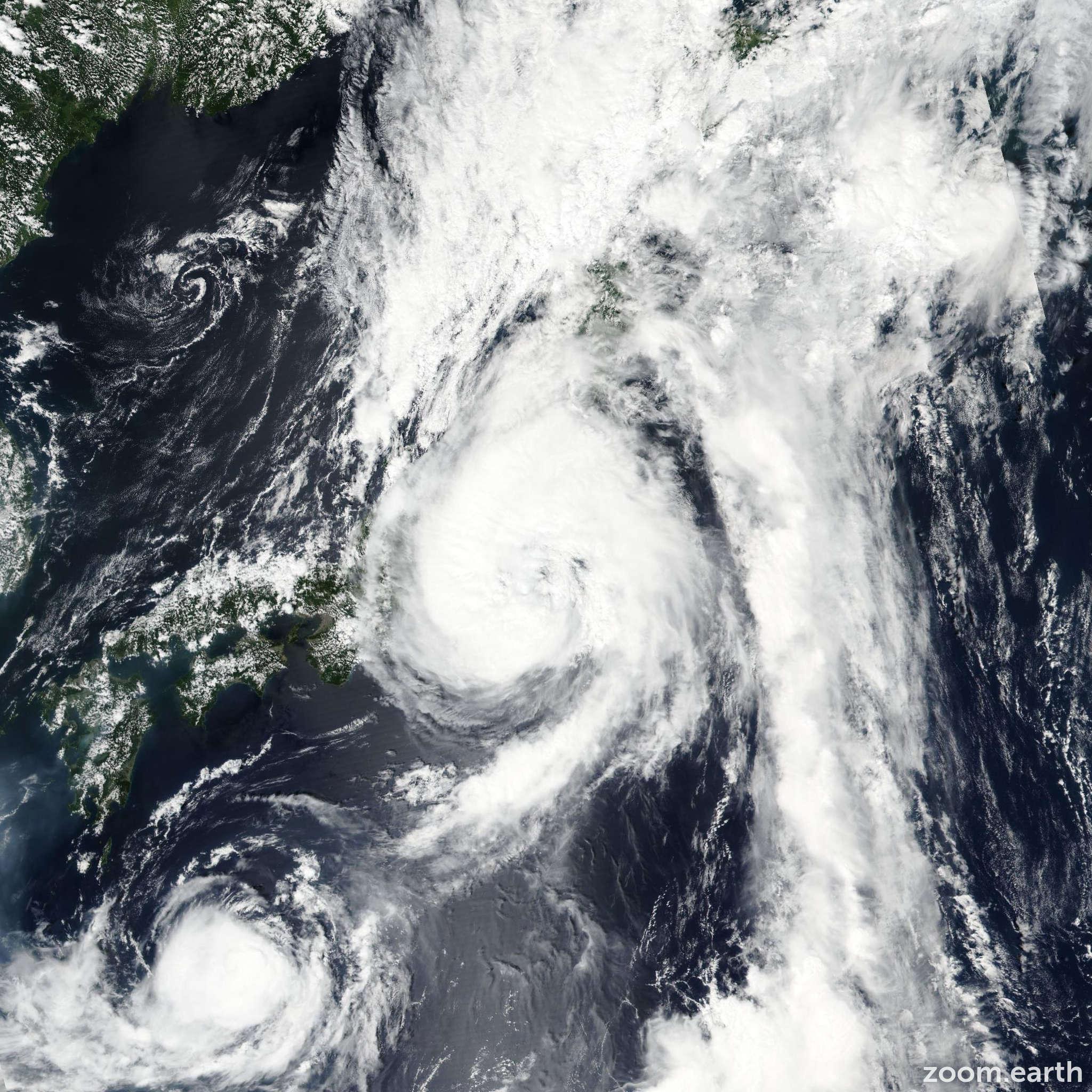 Satellite image of Storm Mindulle 2016