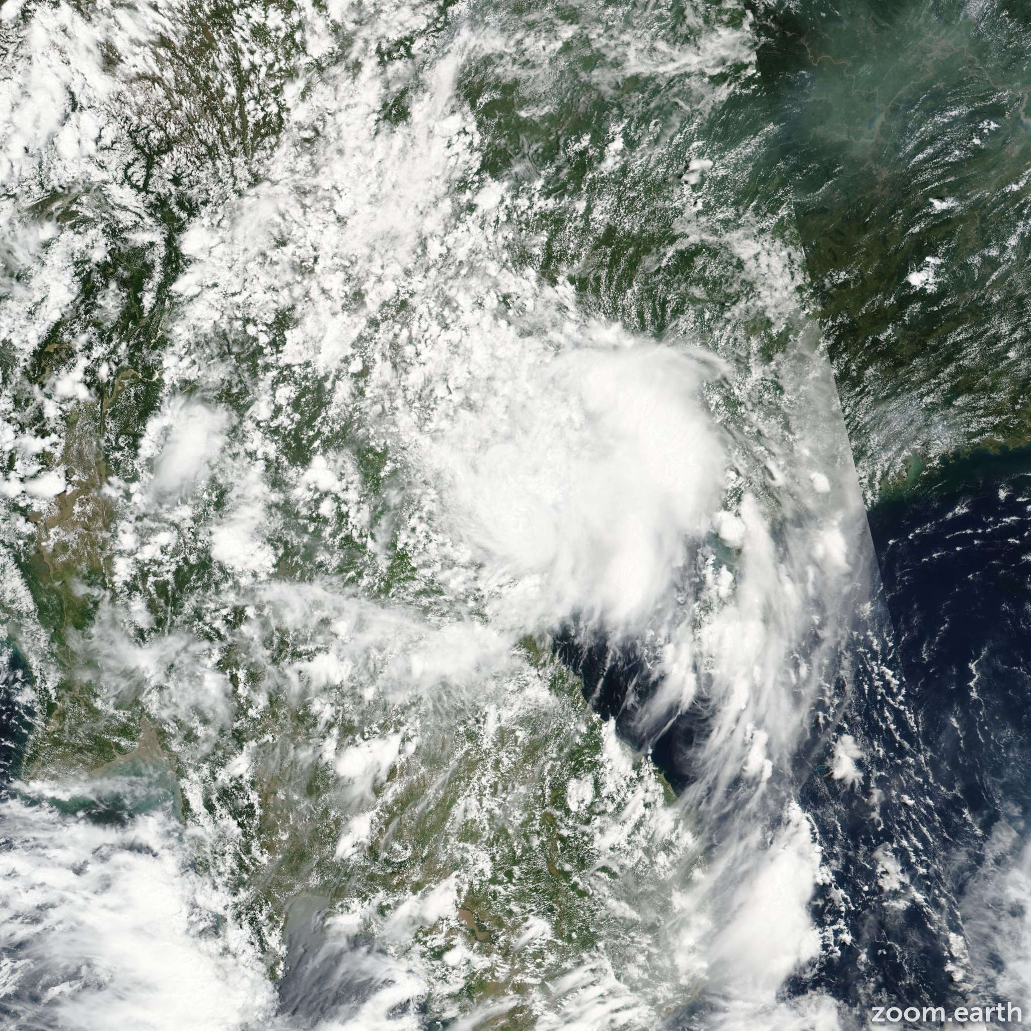 Satellite image of Storm Mirinae 2016
