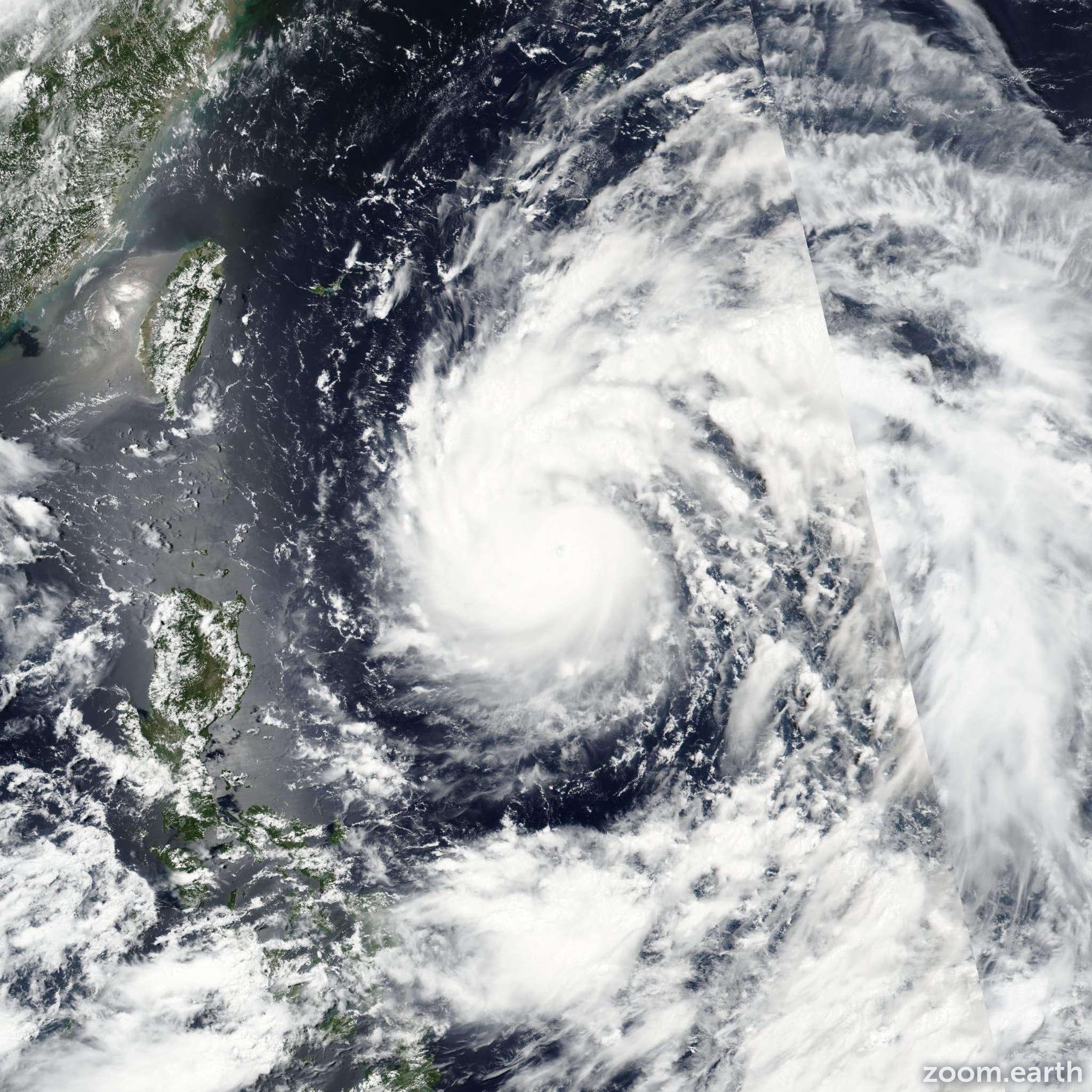 Satellite image of Typhoon Nepartak 2016