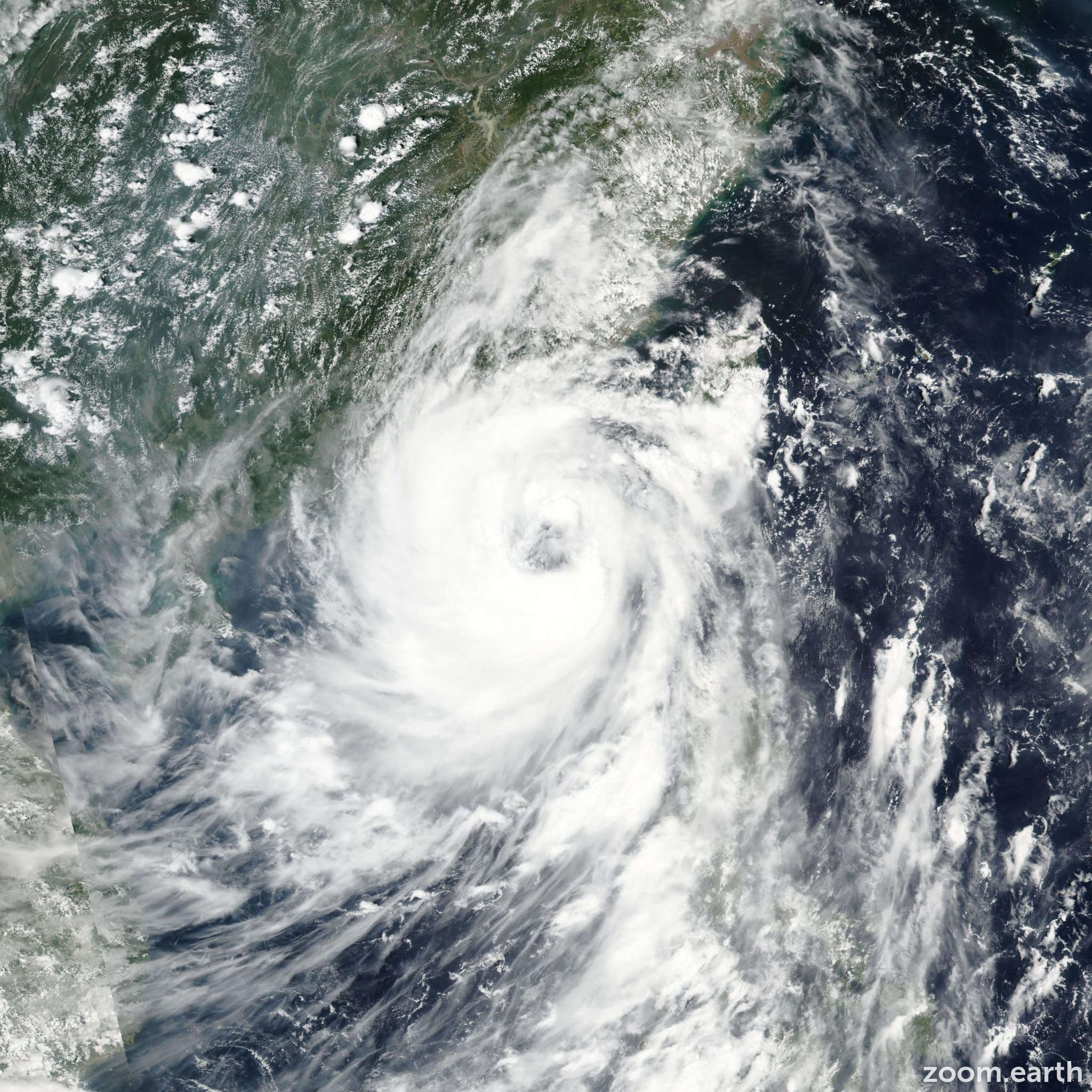 Satellite image of Typhoon Nida 2016