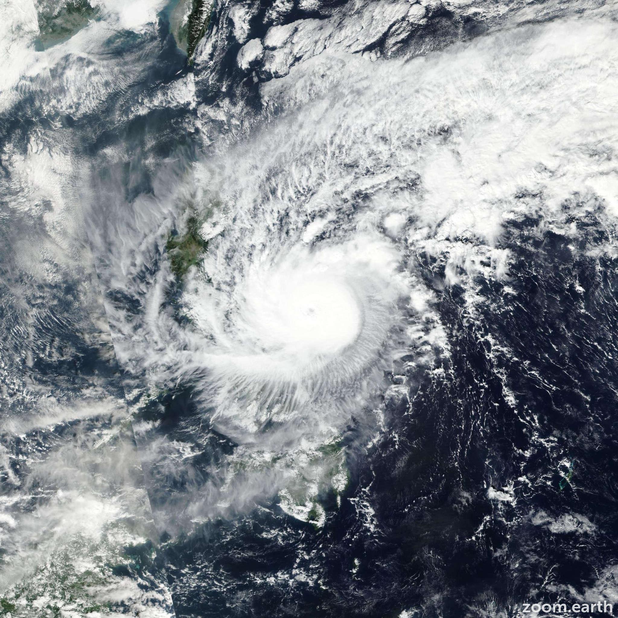 Satellite image of Typhoon Nock-Ten (Nina) 2016