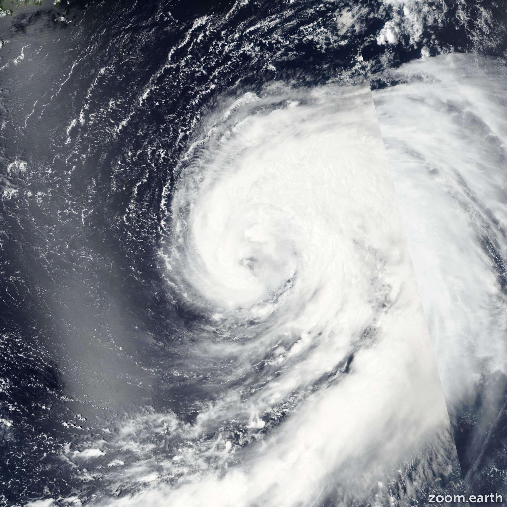 Satellite image of Storm Omais 2016