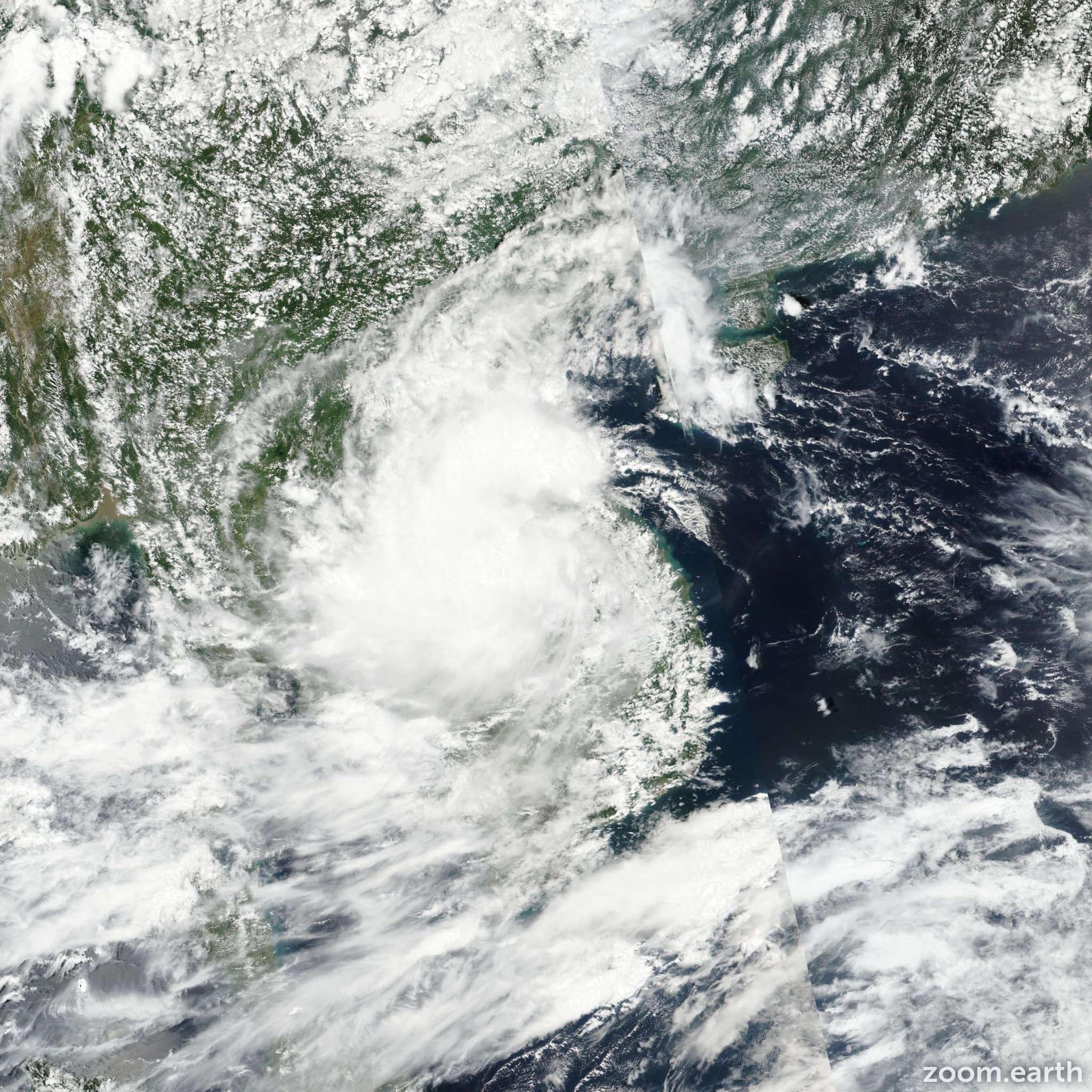 Satellite image of Depression Rai 2016