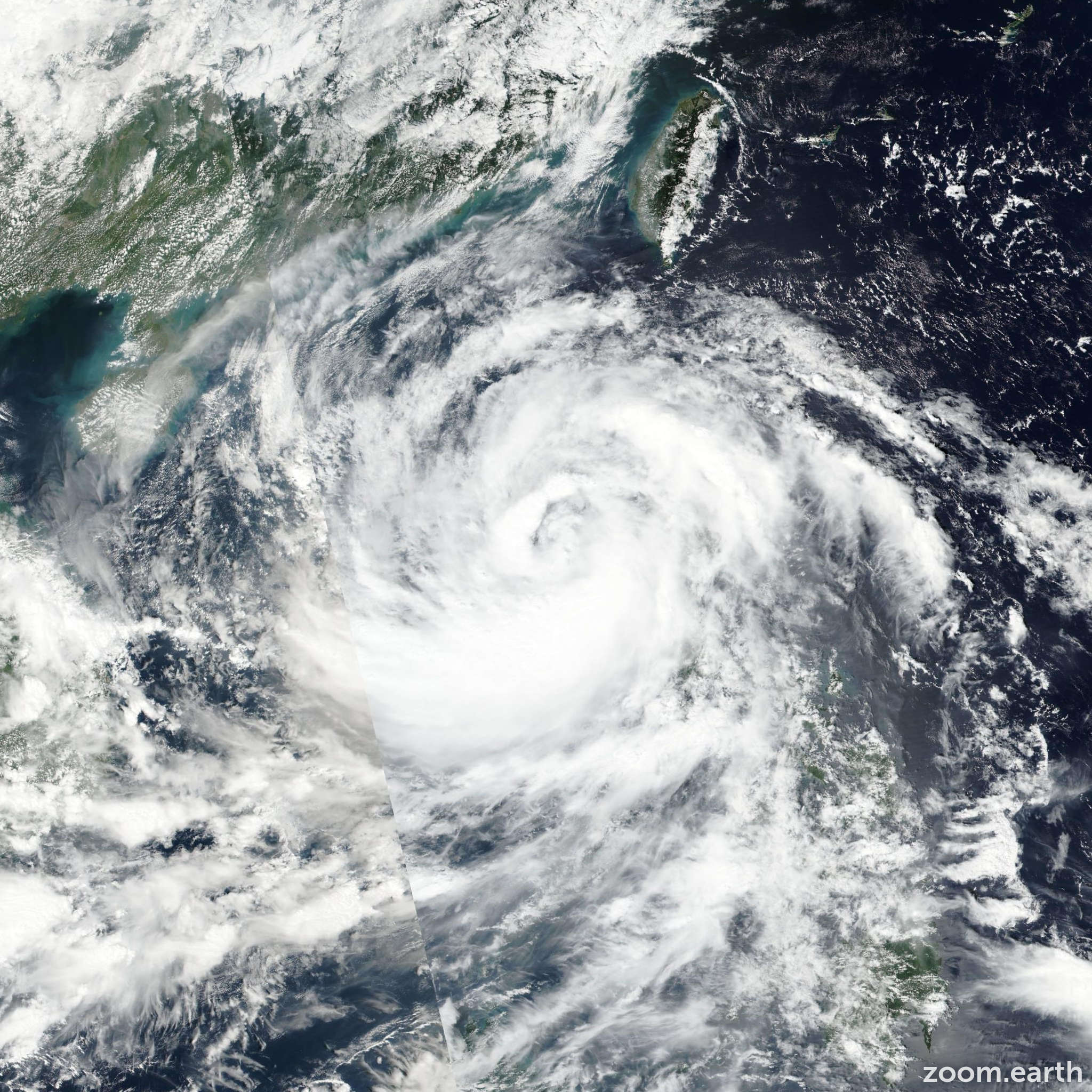 Satellite image of Typhoon Sarika 2016