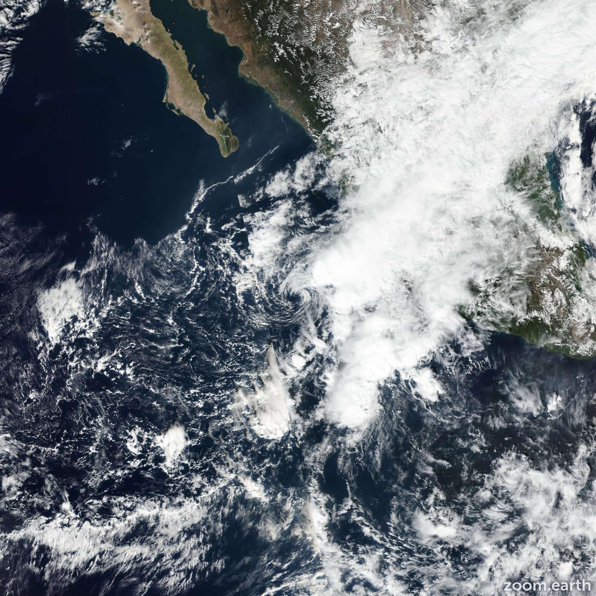 Satellite image of Storm Tina 2016