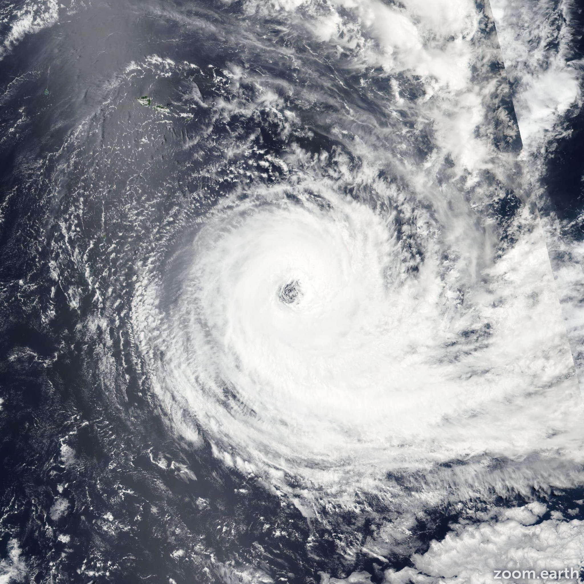 Satellite image of Cyclone Victor 2016