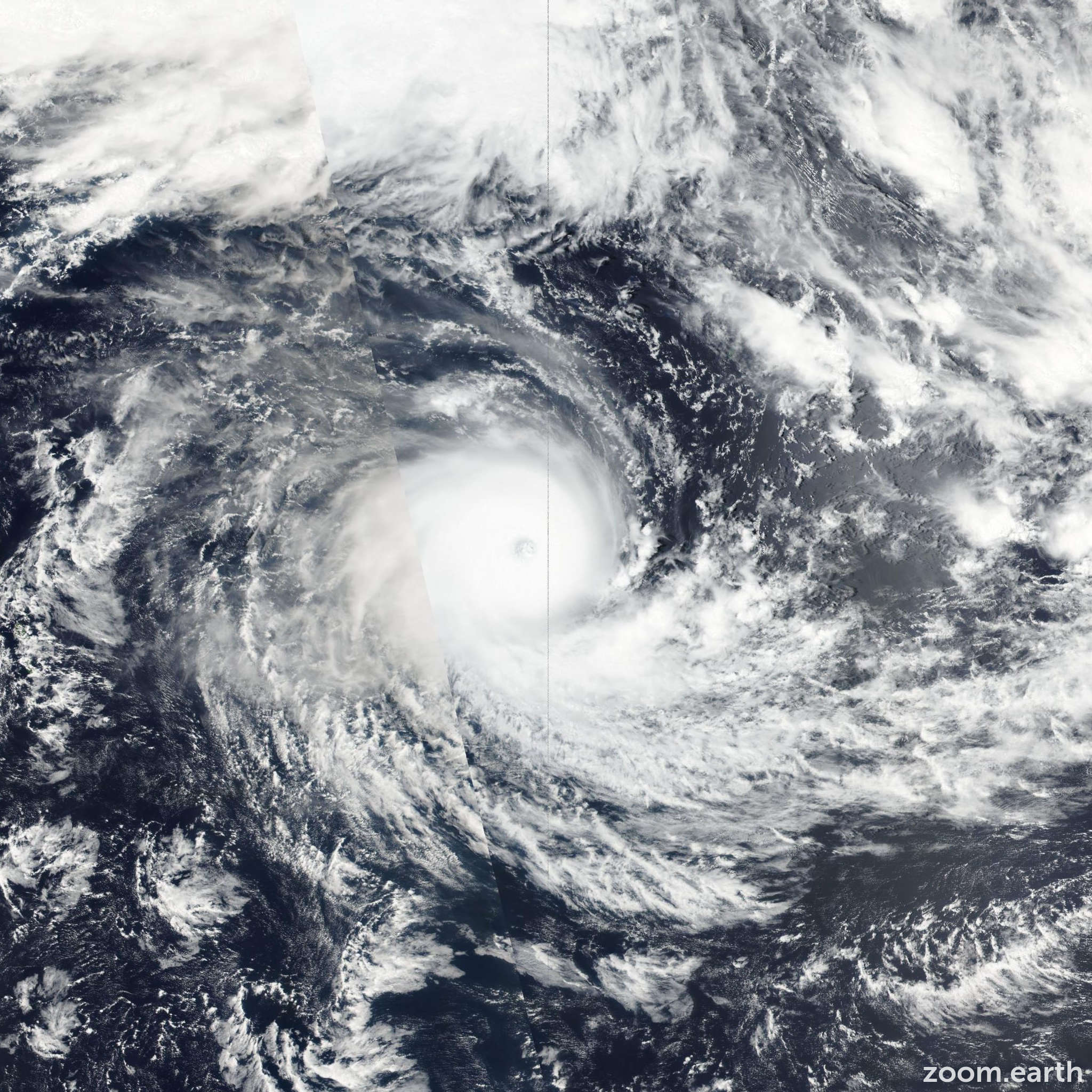 Satellite image of Cyclone Winston 2016