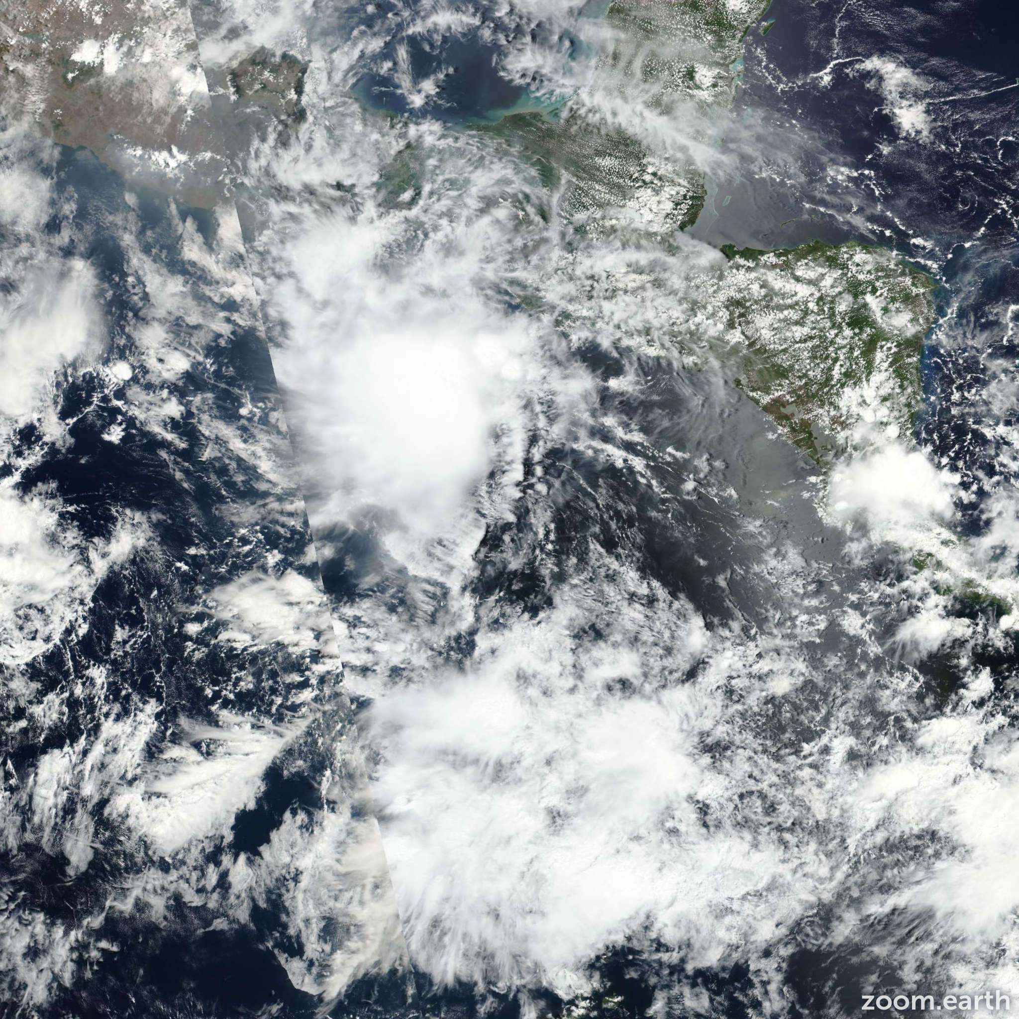 Satellite image of Storm Adrian 2017
