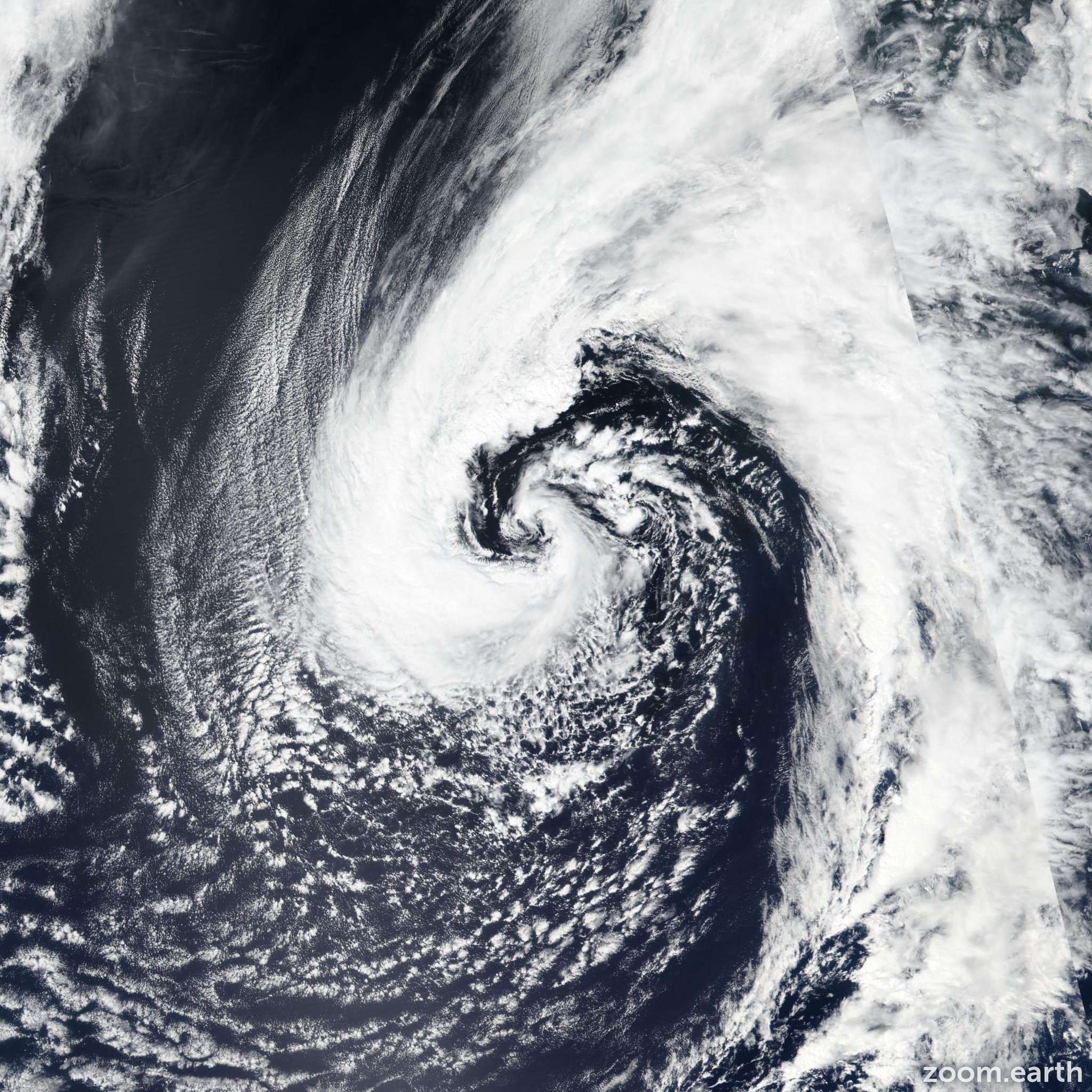 Satellite image of Storm Arlene 2017