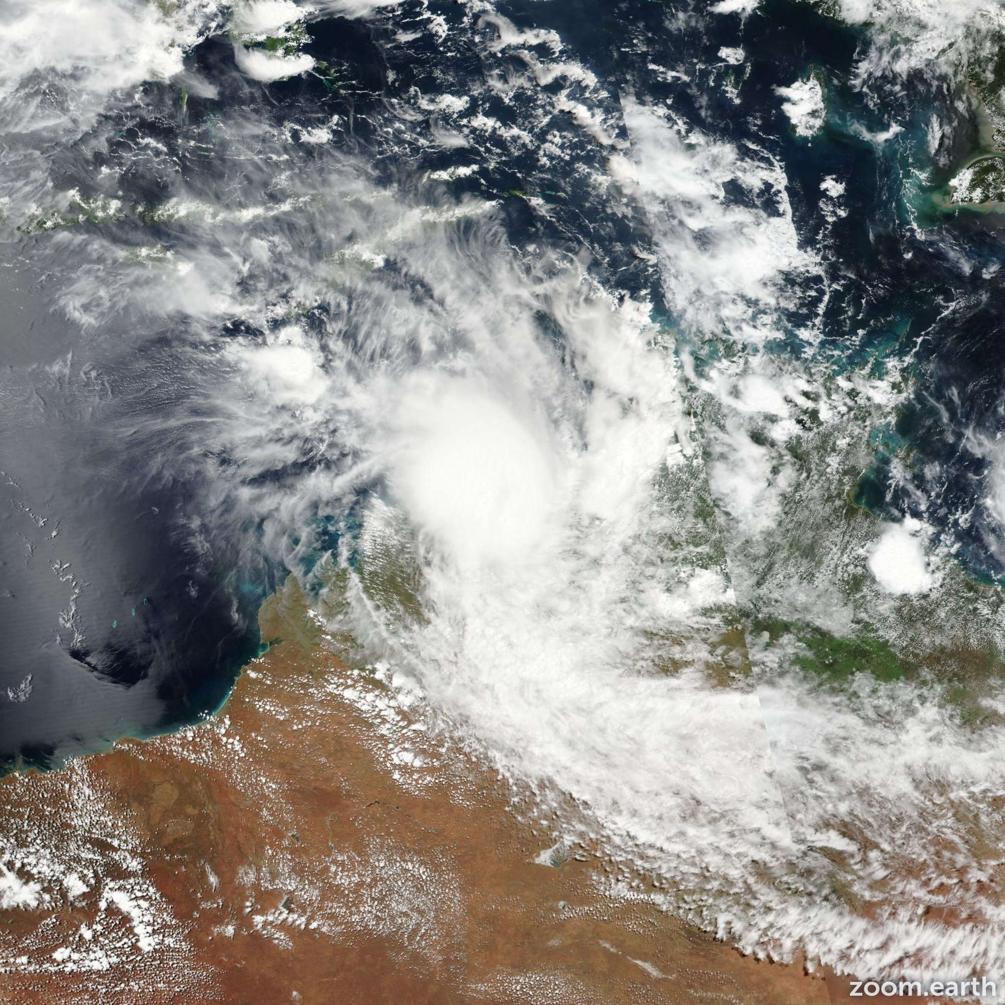 Satellite image of Cyclone Blanche 2017