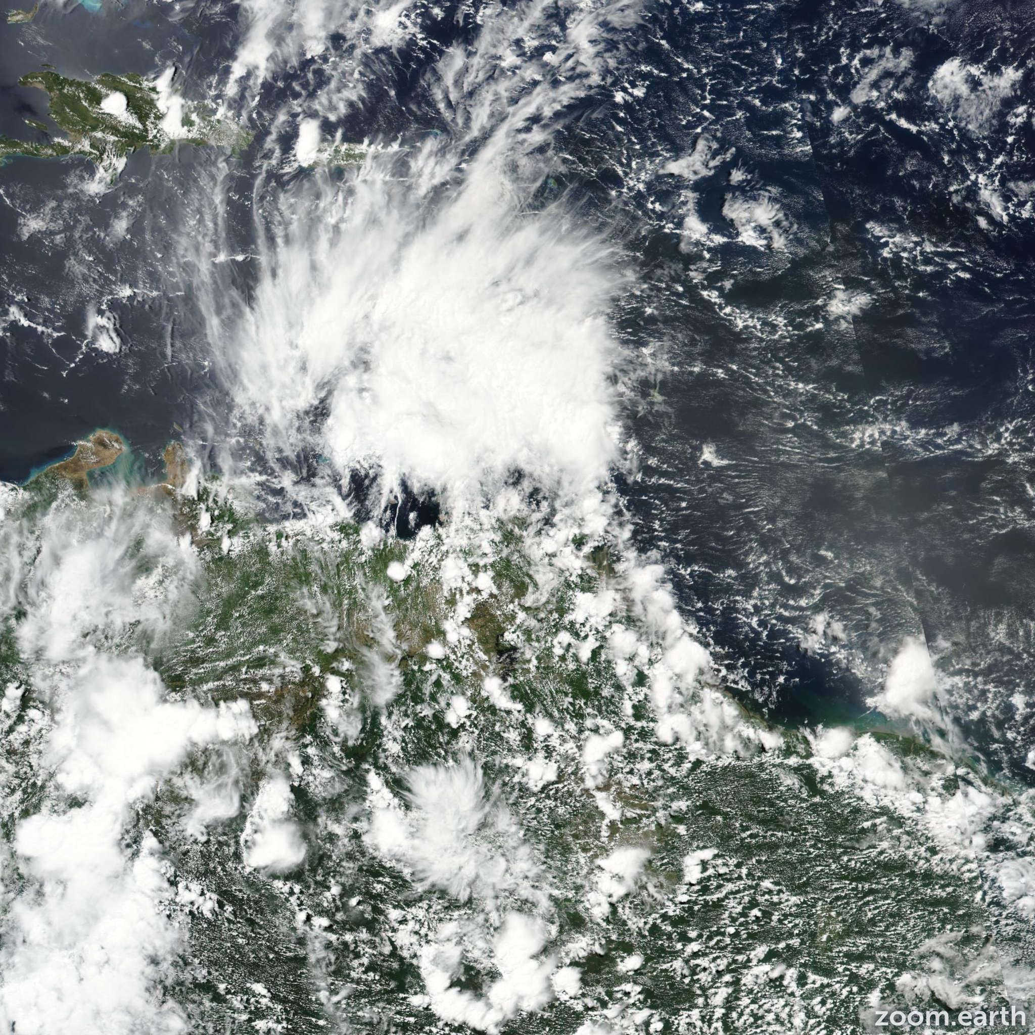 Satellite image of Storm Bret 2017