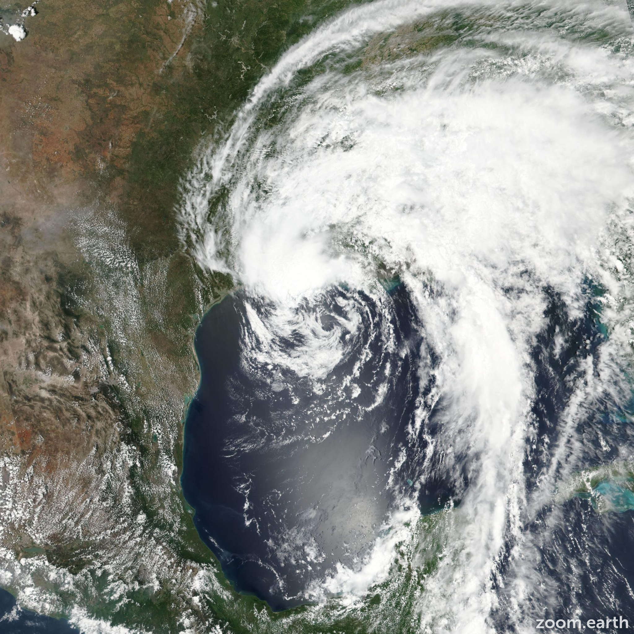 Satellite image of Storm Cindy 2017