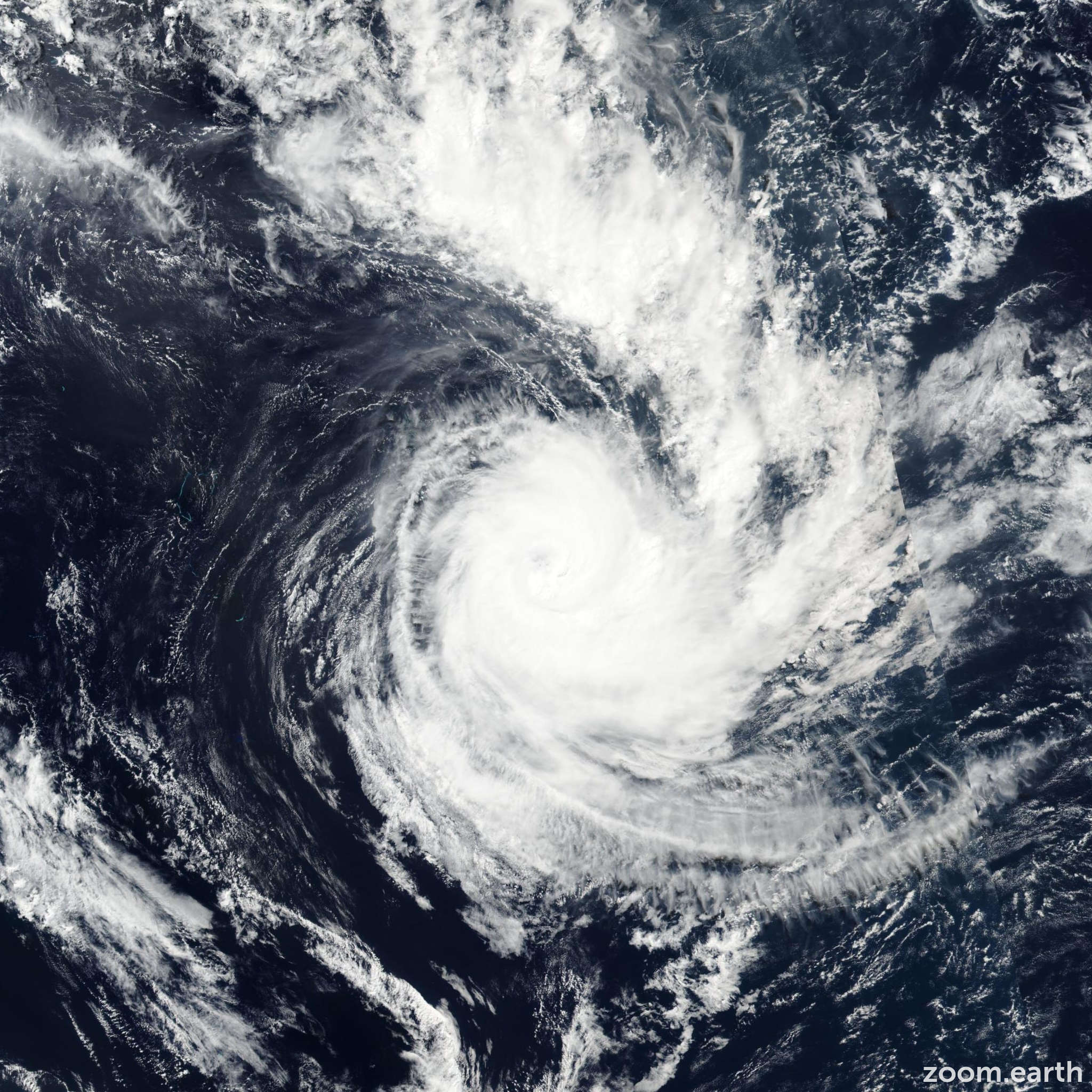 Satellite image of Cyclone Cook 2017