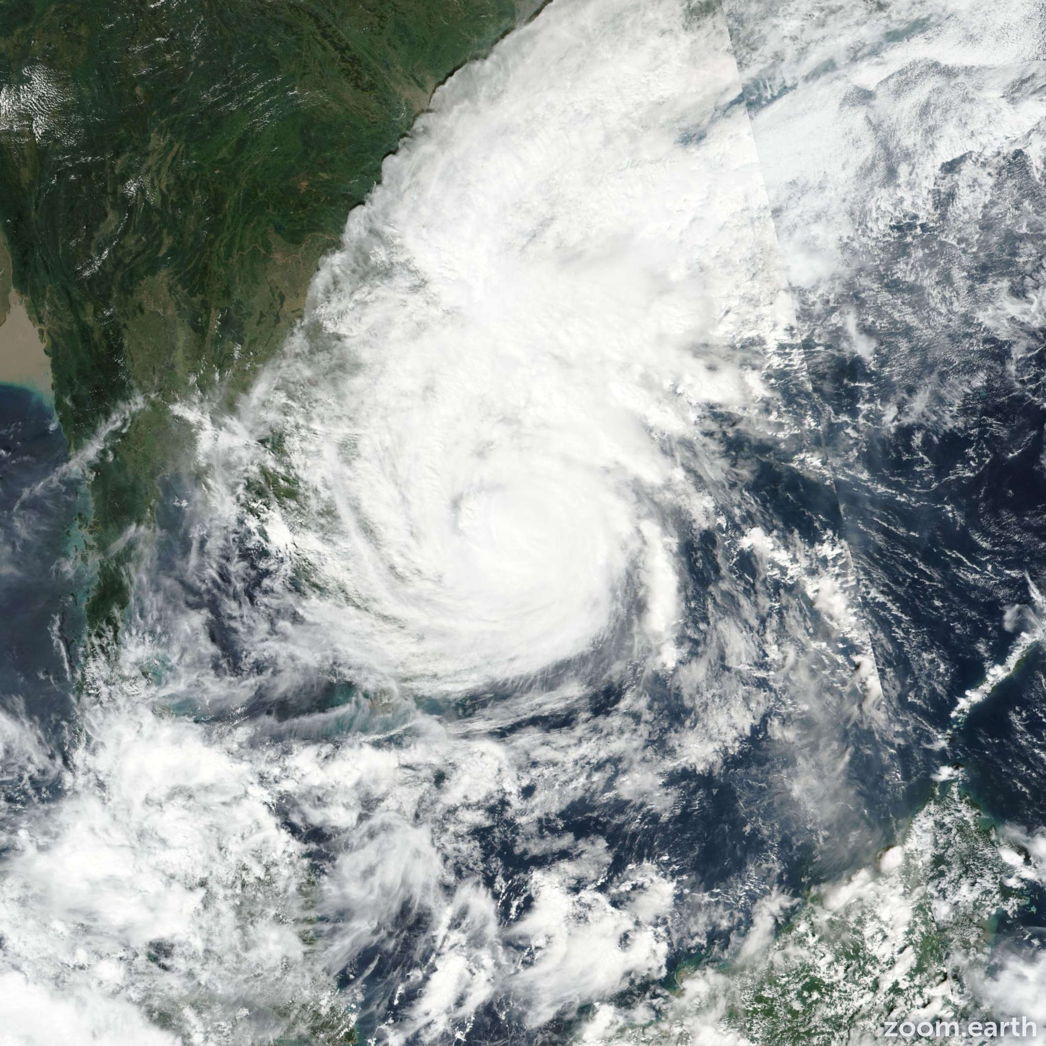 Satellite image of Typhoon Damrey (Ramil) 2017
