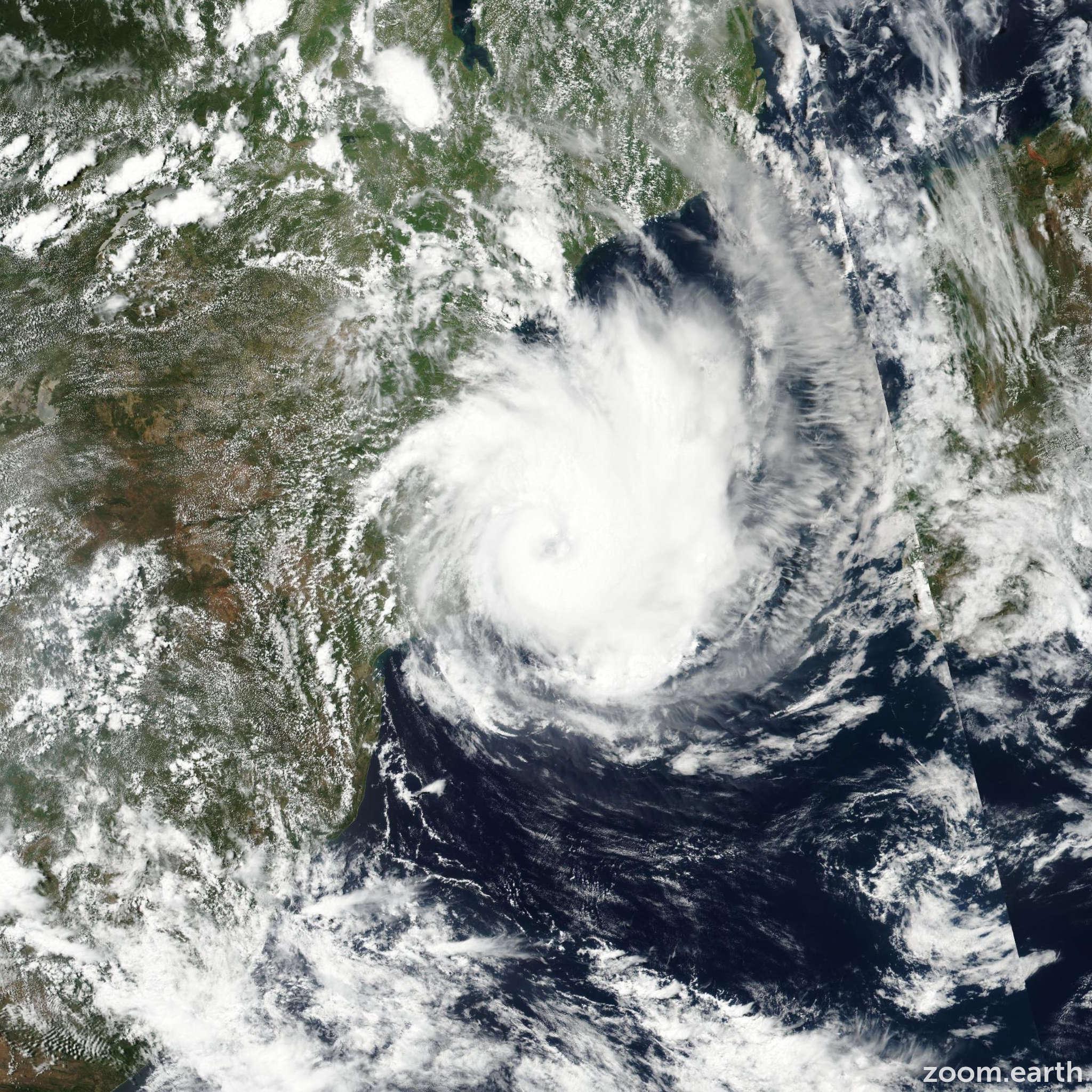 Satellite image of Cyclone Dineo 2017