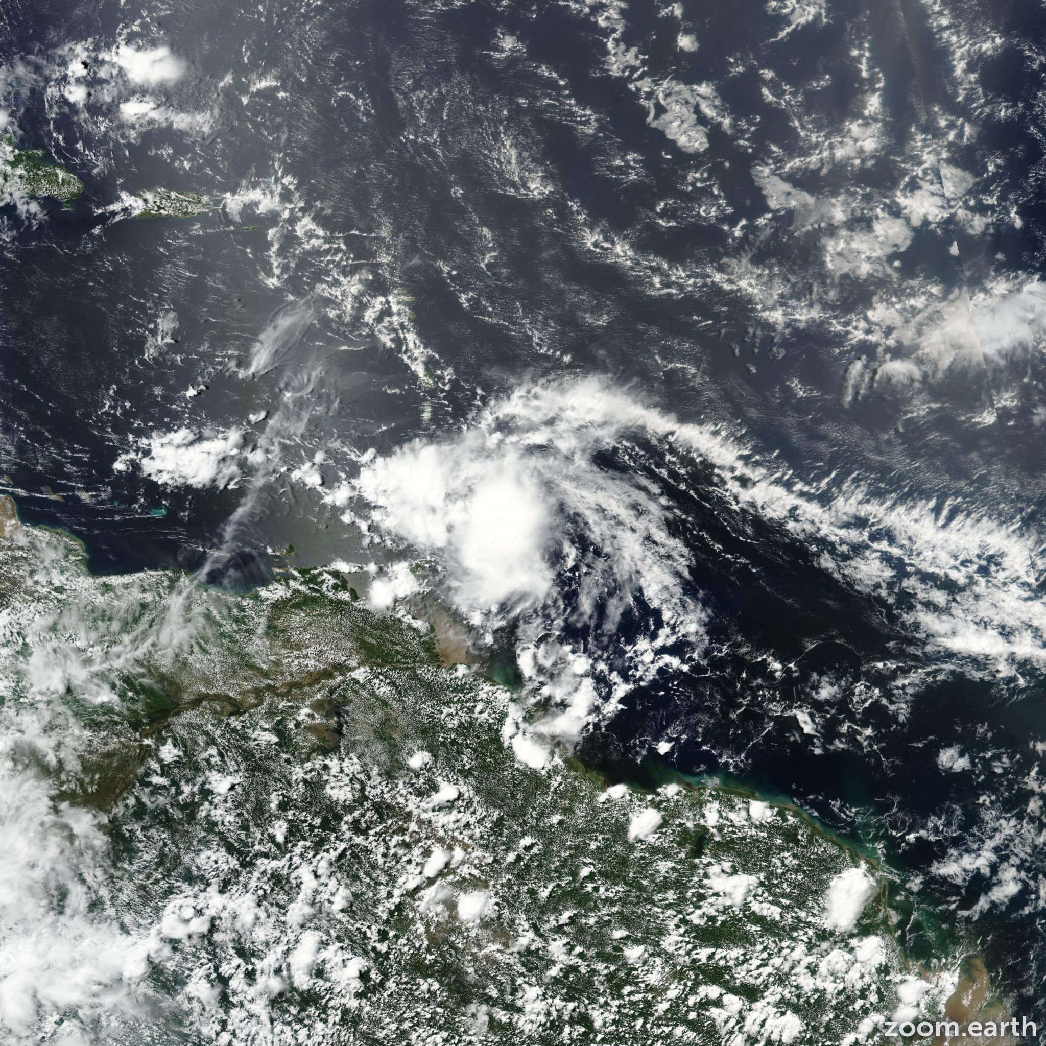 Satellite image of Storm Don 2017