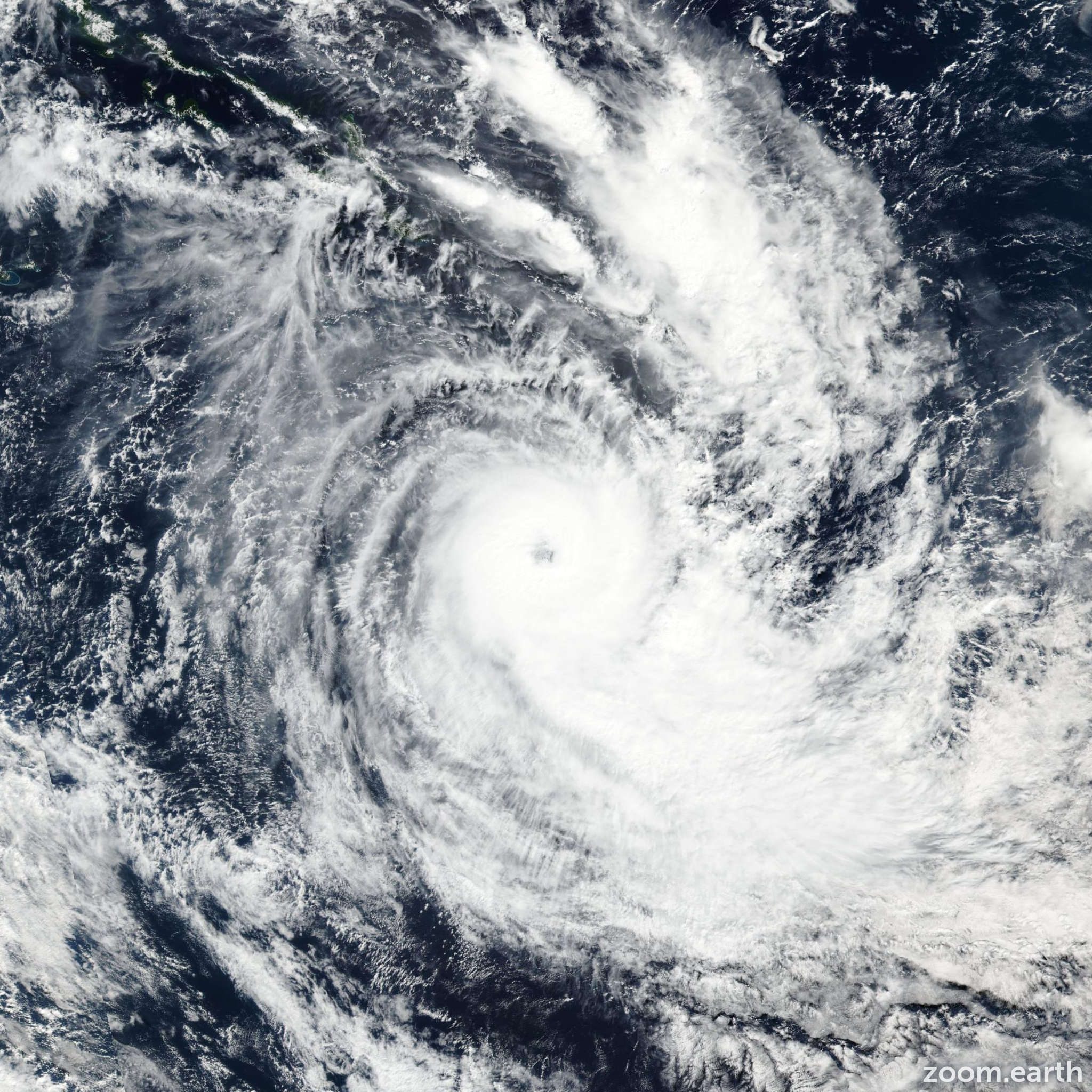 Satellite image of Cyclone Donna 2017