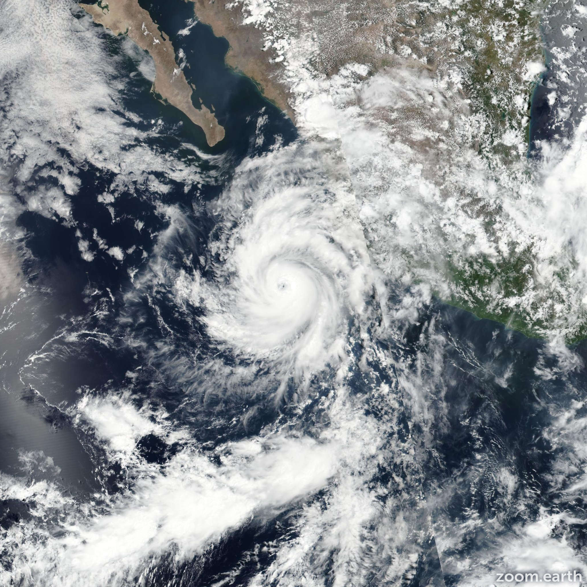 Satellite image of Hurricane Dora 2017