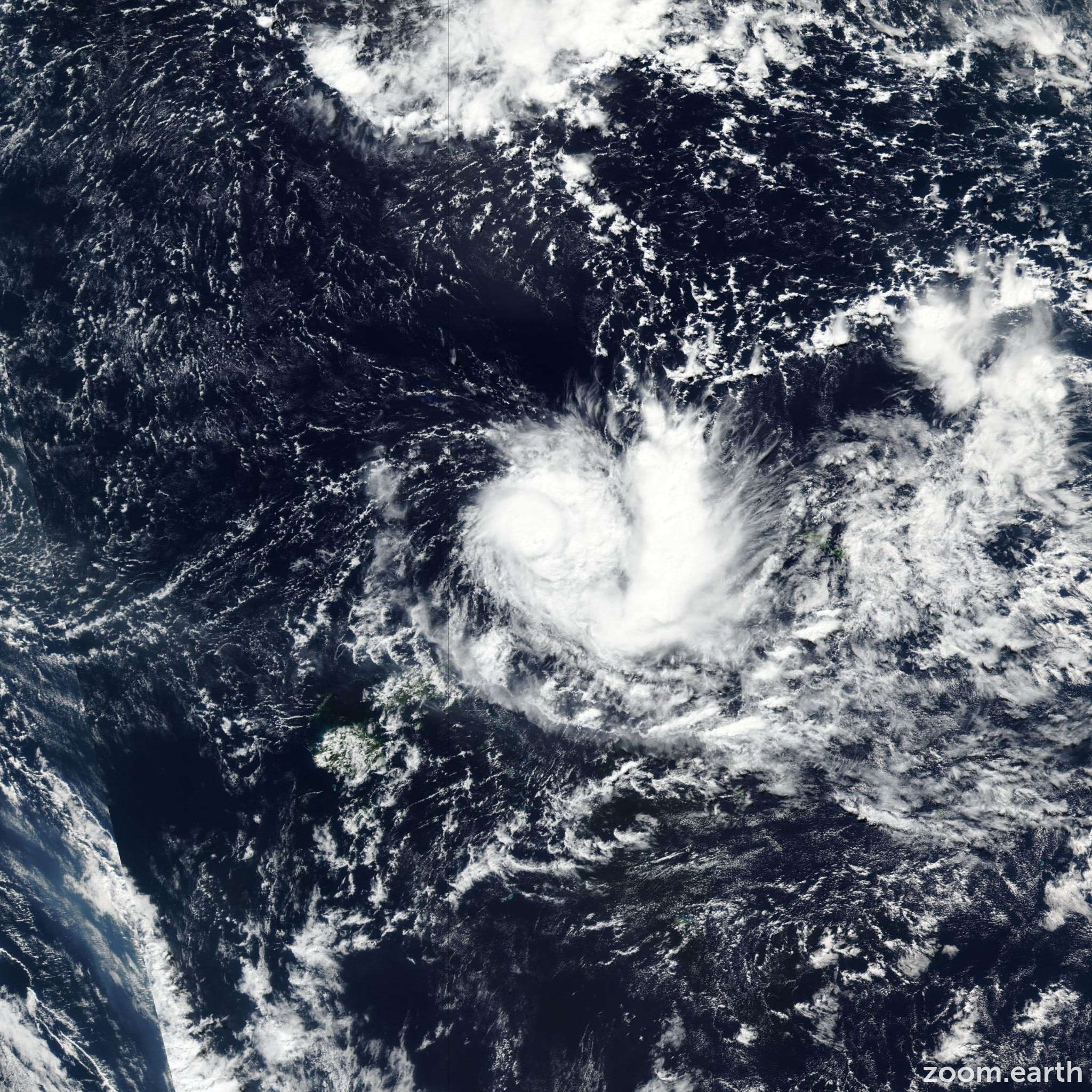 Satellite image of Cyclone Ella 2017