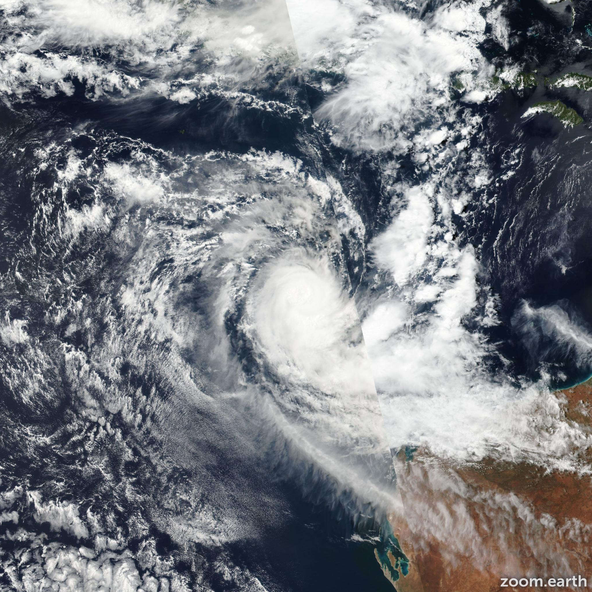 Satellite image of Cyclone Ernie 2017