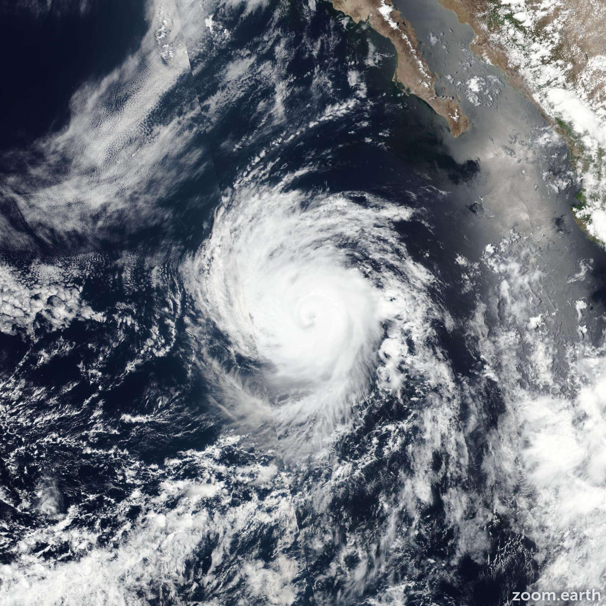 Satellite image of Hurricane Eugene 2017