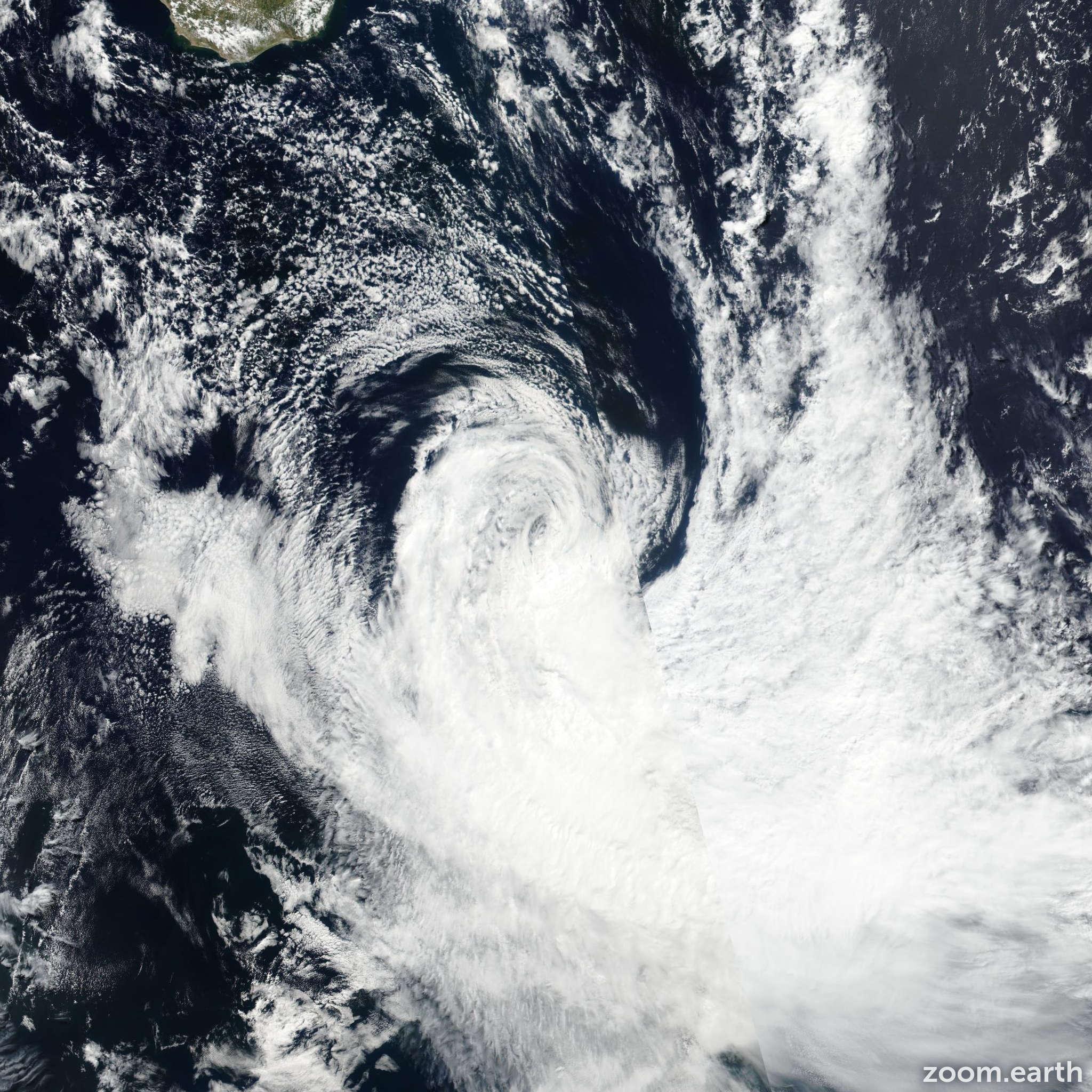 Satellite image of Storm Fernando 2017