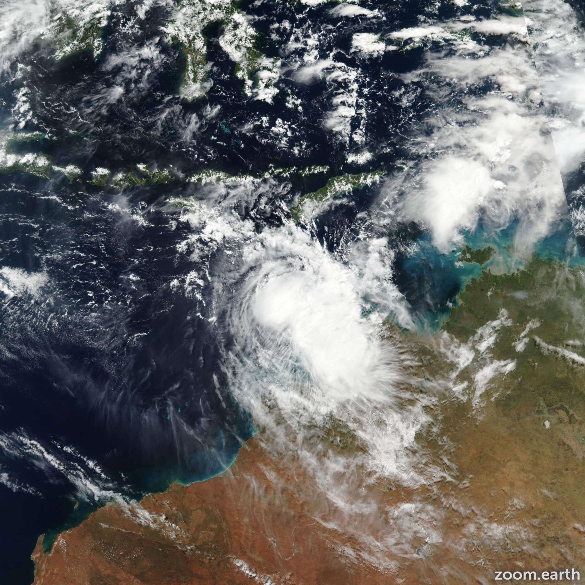 Satellite image of Cyclone Frances 2017