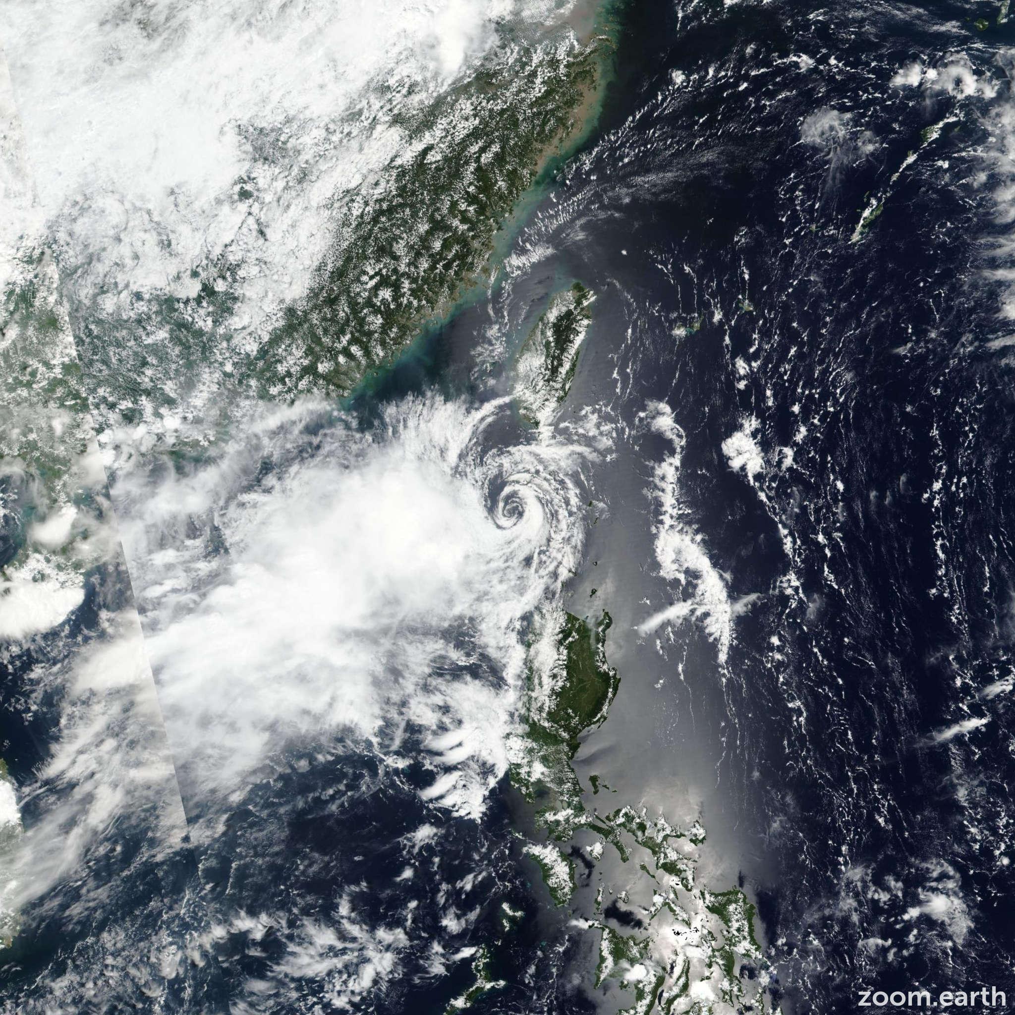Satellite image of Depression Guchol 2017