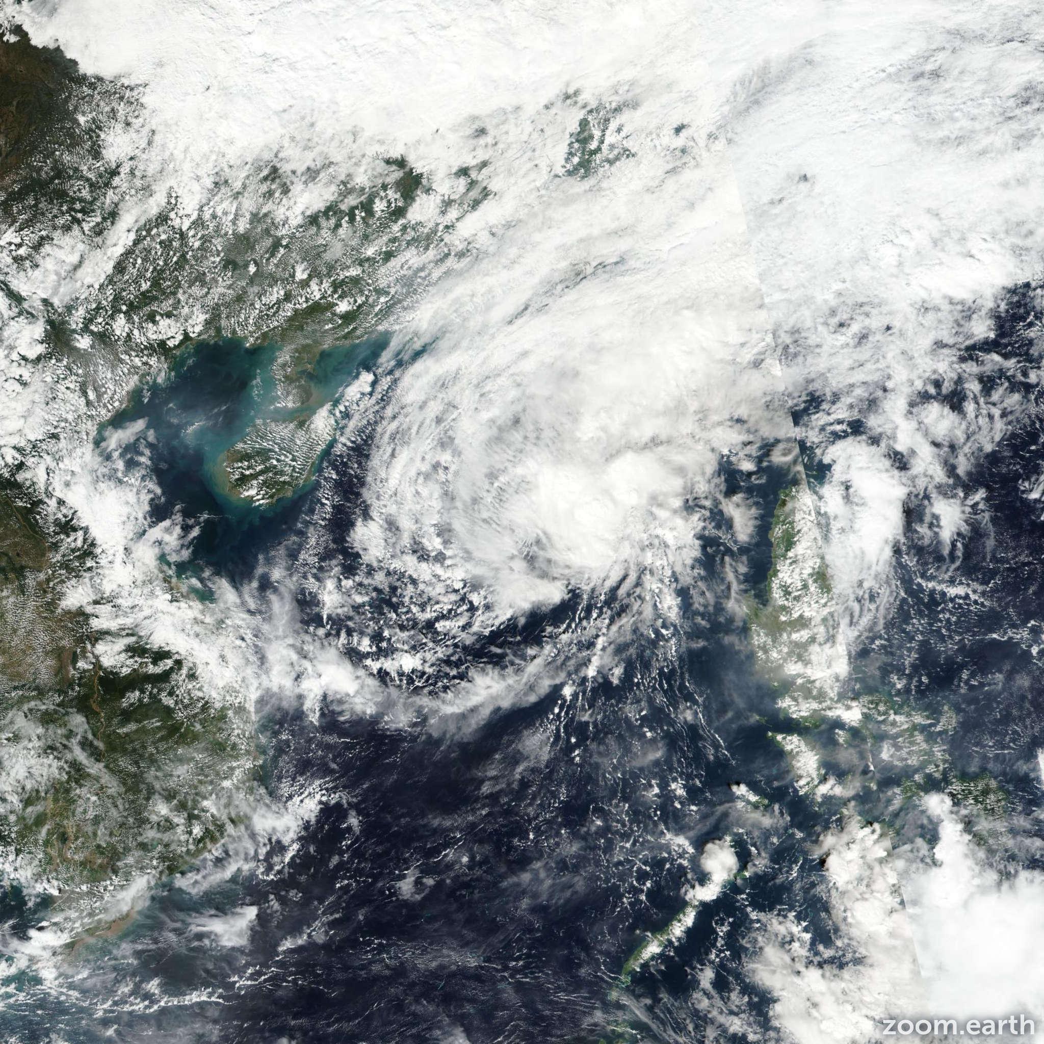 Satellite image of Storm Haikui (Salome) 2017