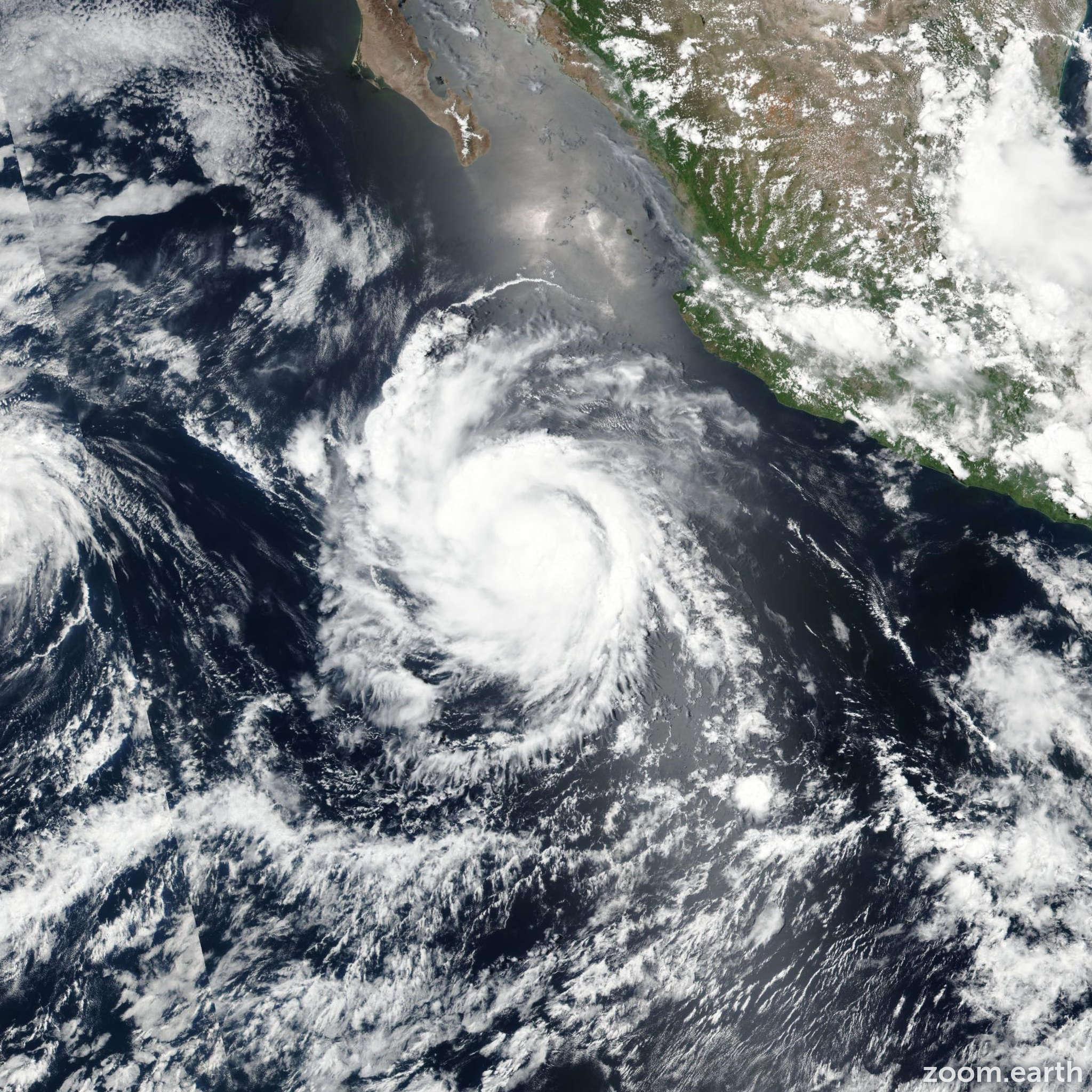 Satellite image of Hurricane Hilary 2017