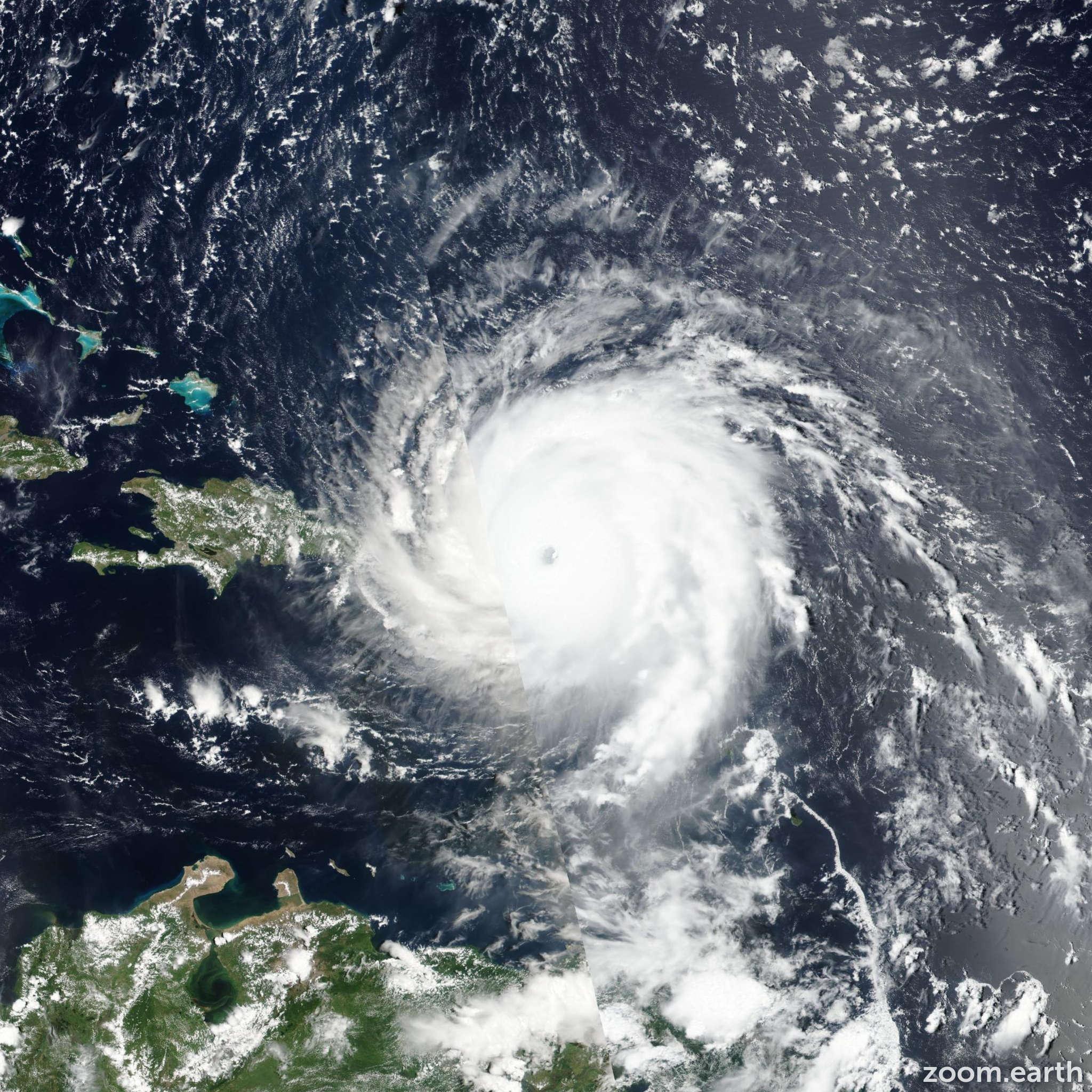 Satellite image of Hurricane Irma 2017