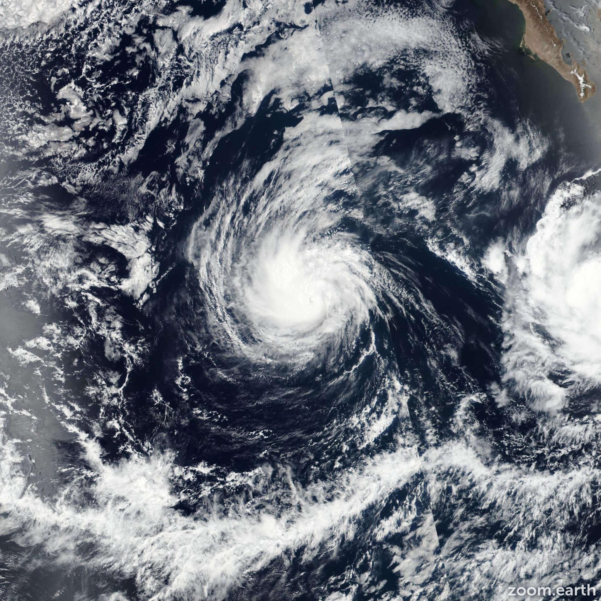Satellite image of Hurricane Irwin 2017