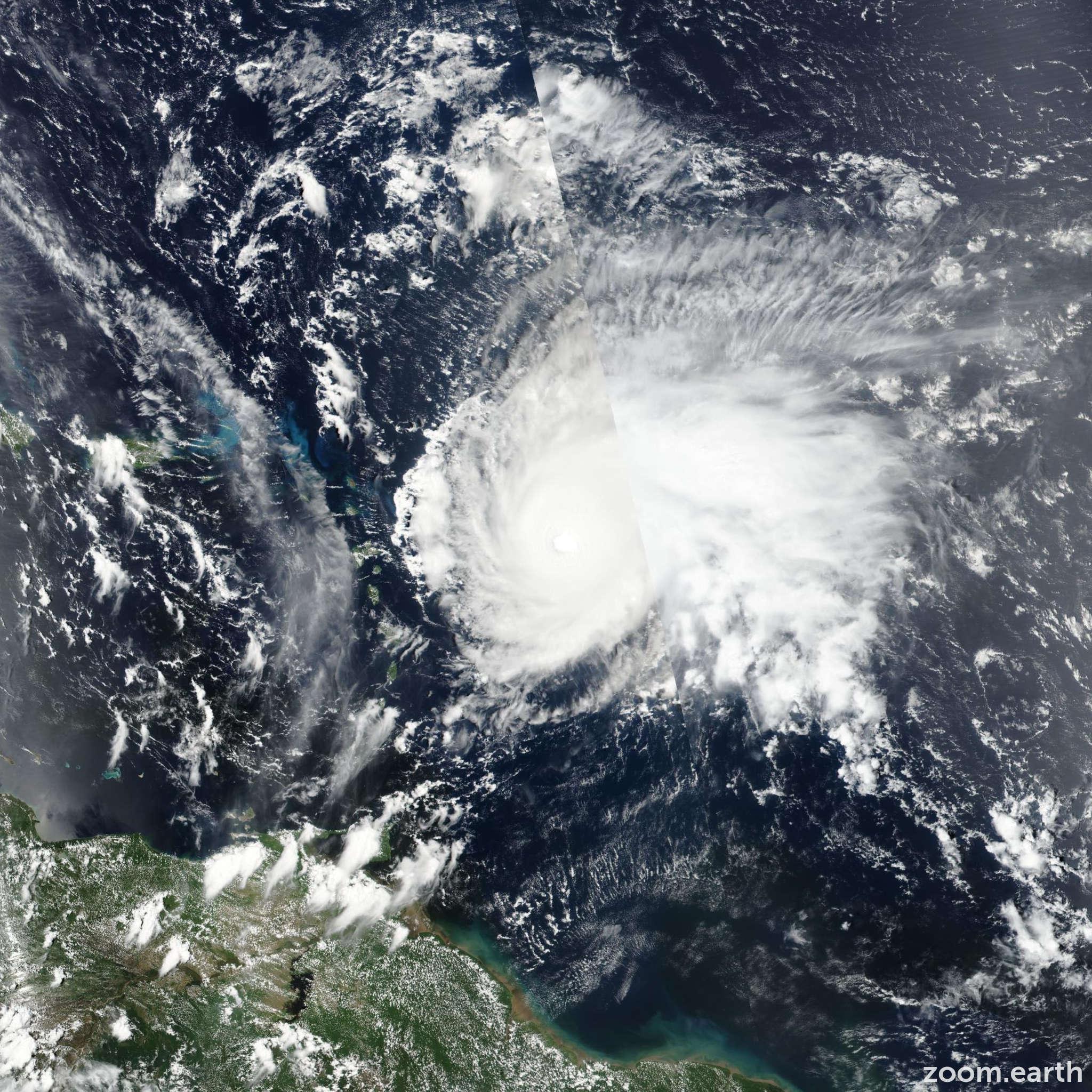 Satellite image of Hurricane Jose 2017