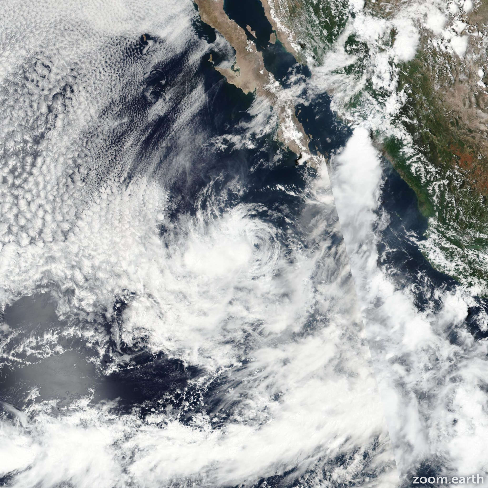 Satellite image of Storm Jova 2017