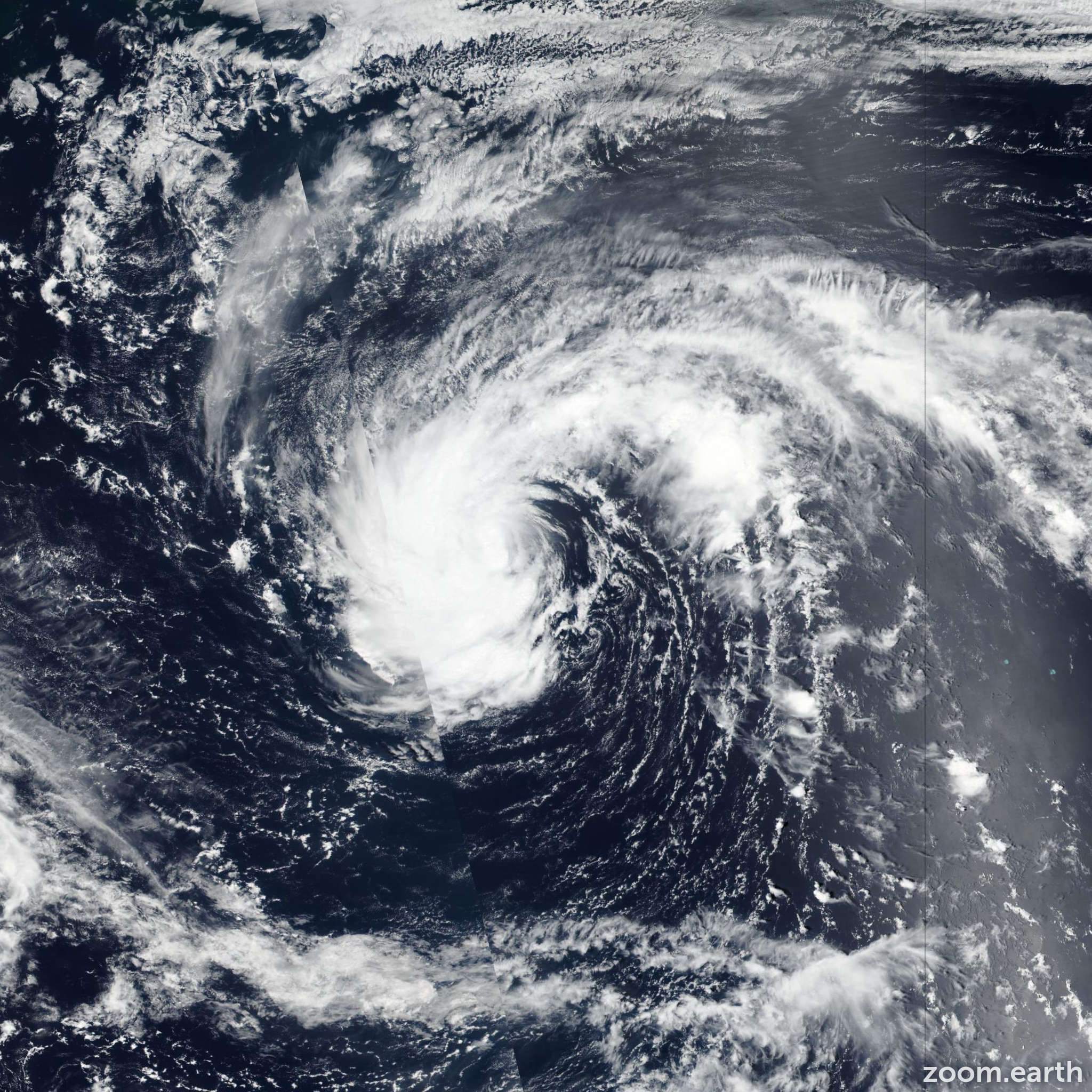 Satellite image of Storm Kulap 2017