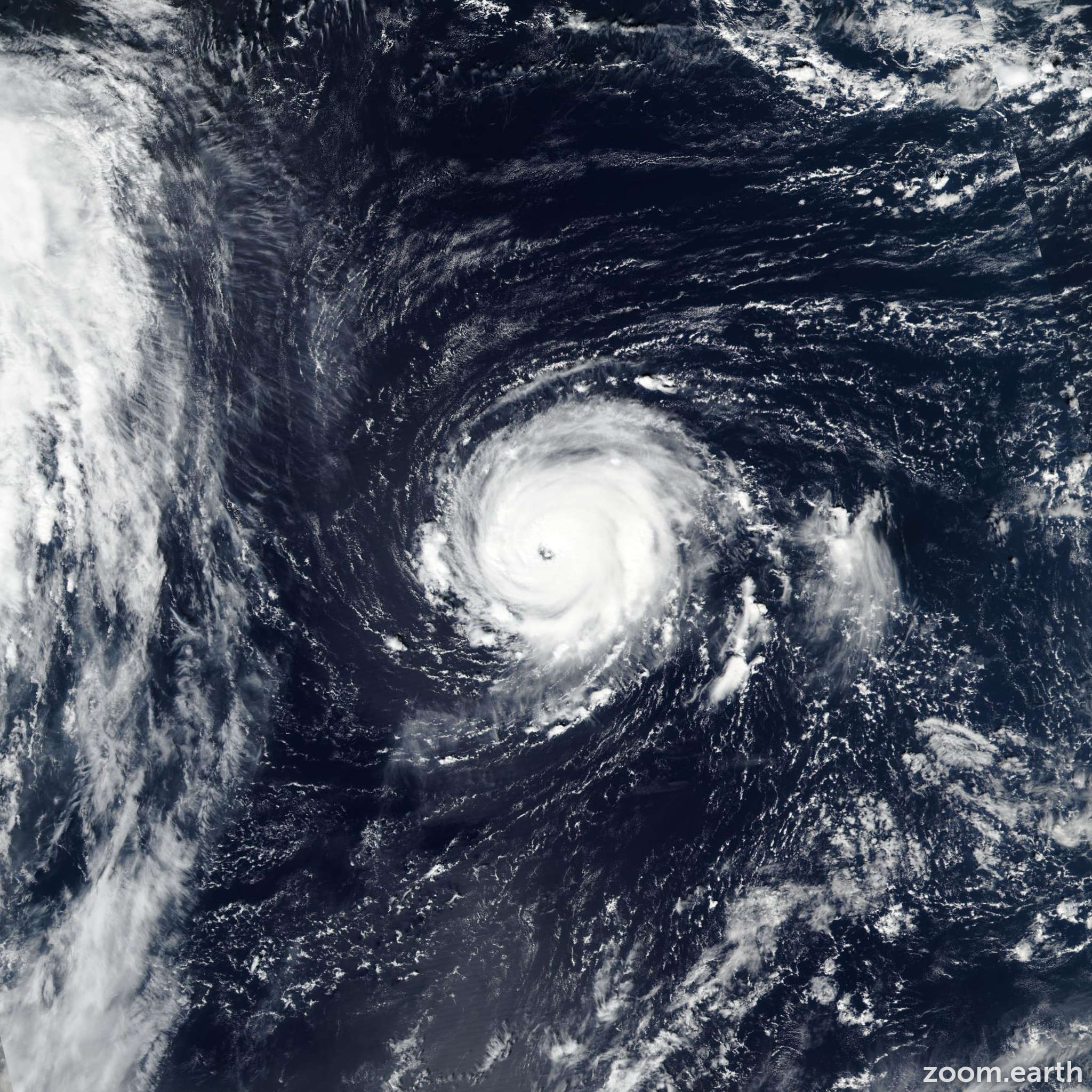 Satellite image of Hurricane Lee 2017