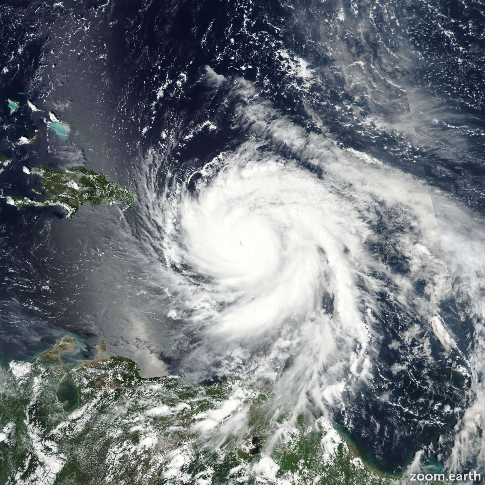 Satellite image of Hurricane Maria 2017