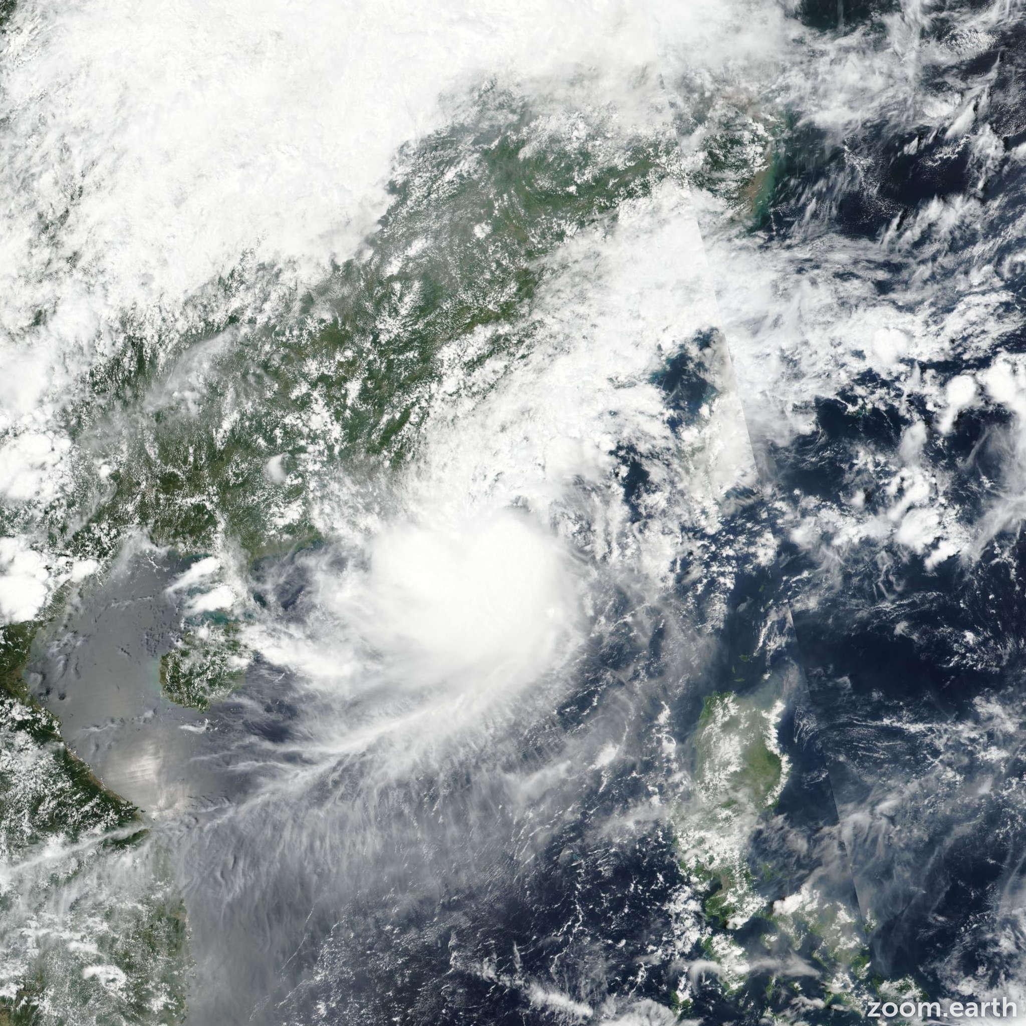 Satellite image of Storm Mawar 2017