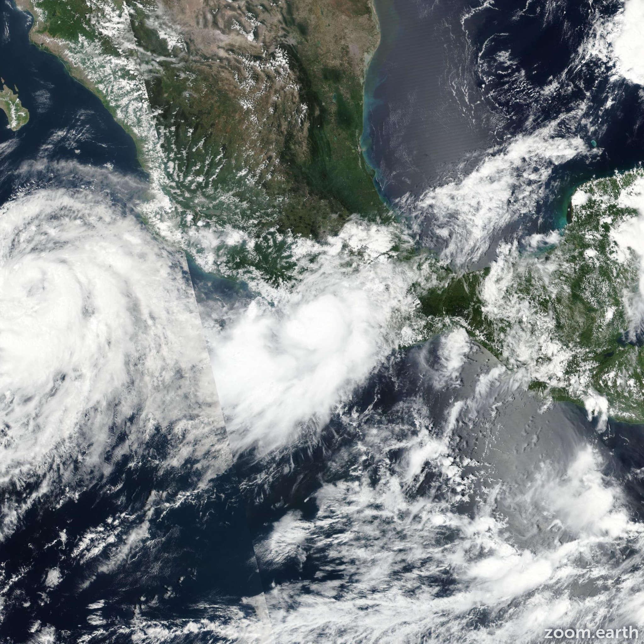 Satellite image of Hurricane Max 2017