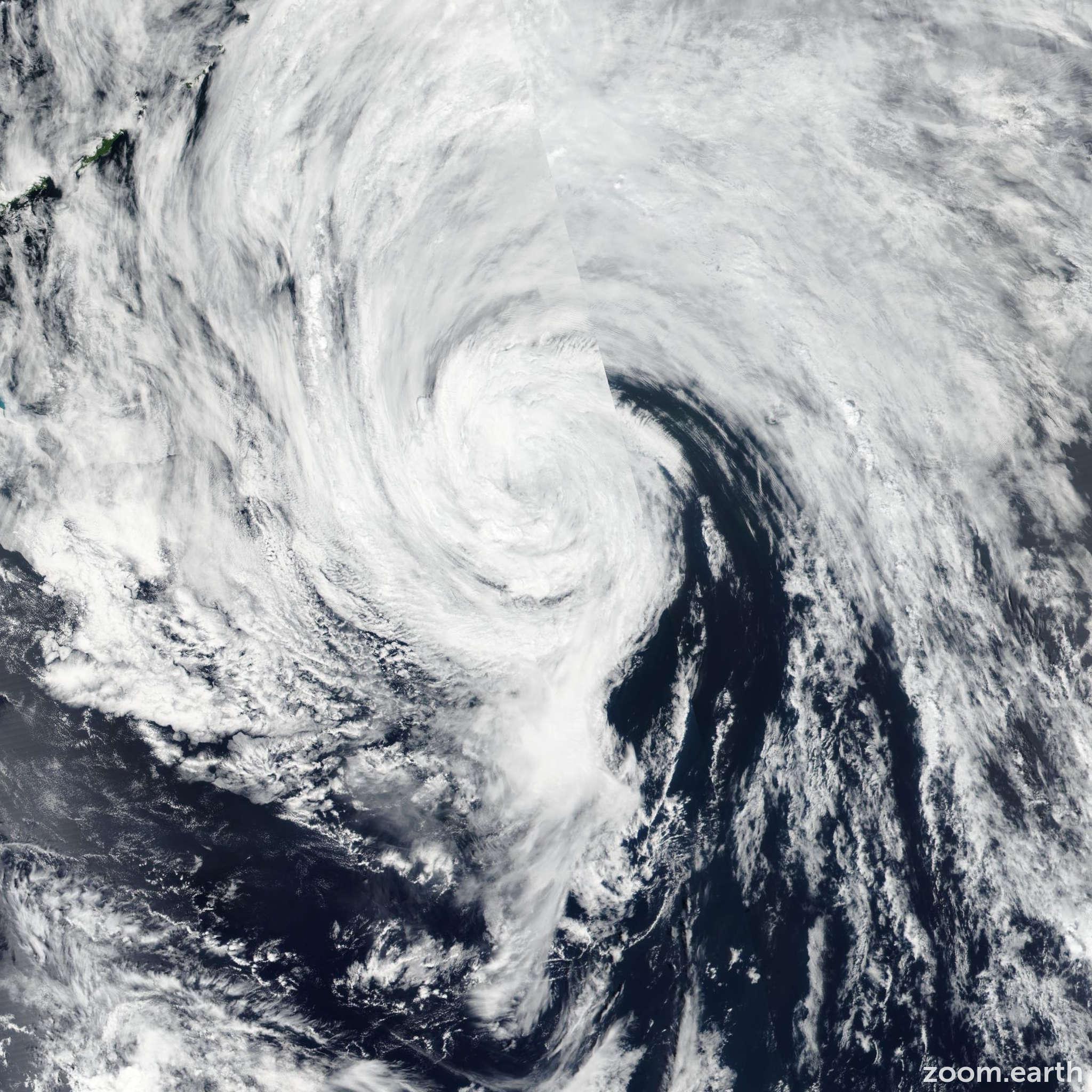 Satellite image of Storm Nalgae 2017