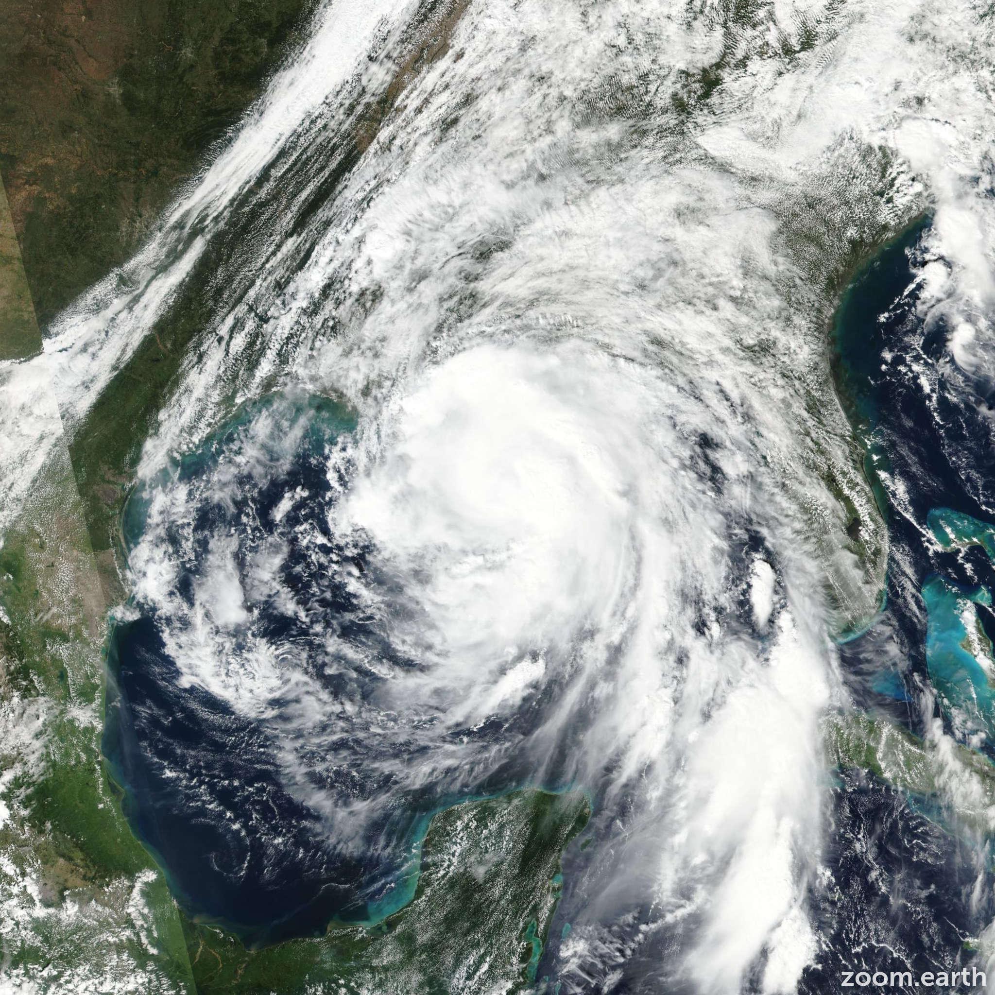 Satellite image of Hurricane Nate 2017