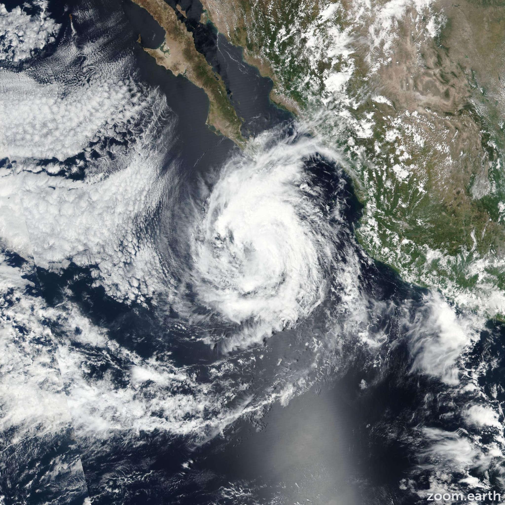Satellite image of Hurricane Norma 2017