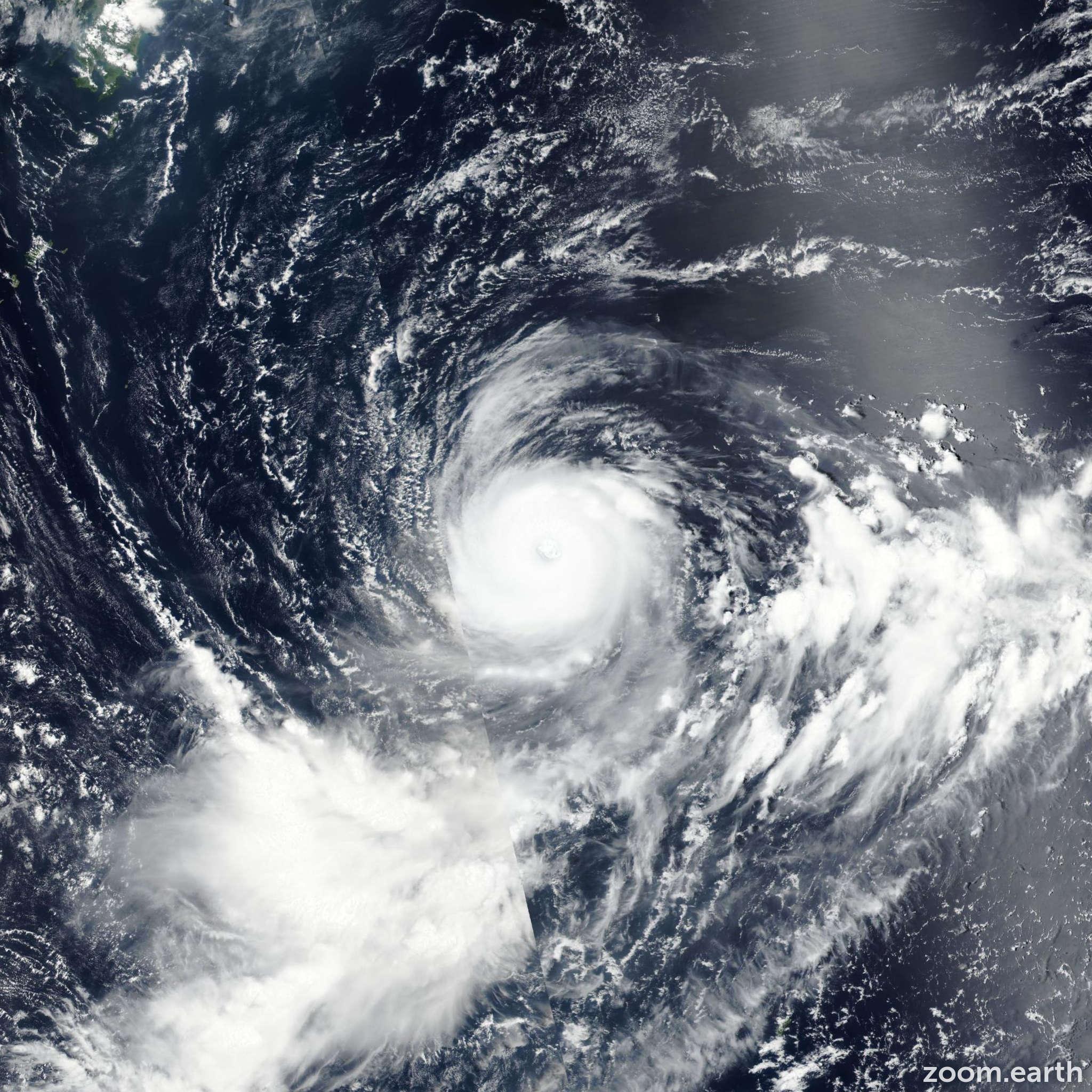 Satellite image of Typhoon Noru 2017