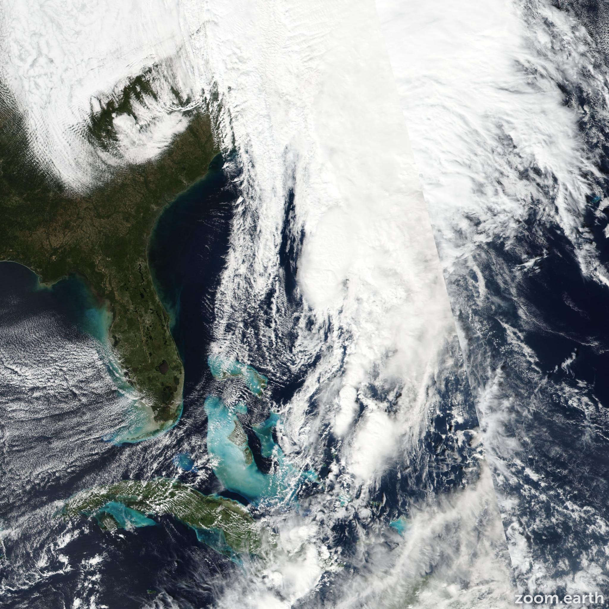 Satellite image of Storm Philippe 2017