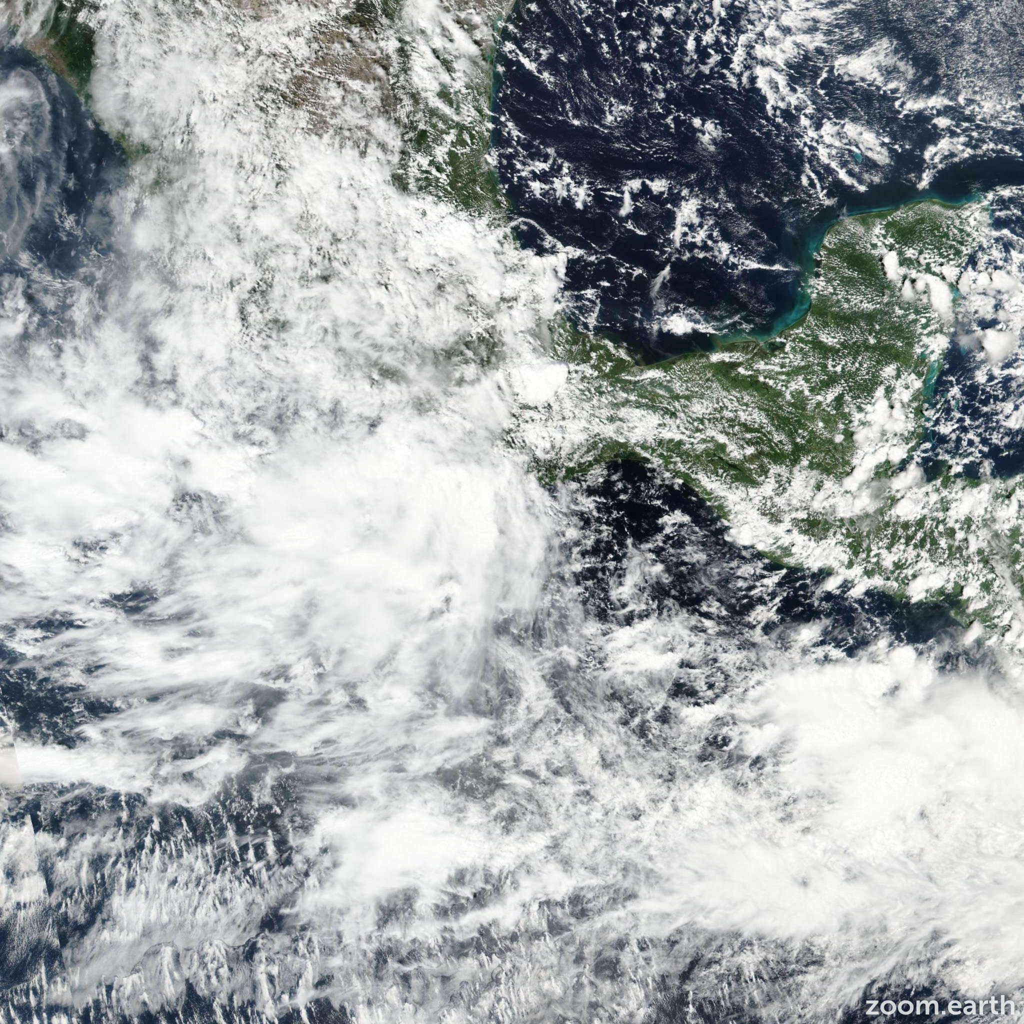 Satellite image of Storm Ramon 2017