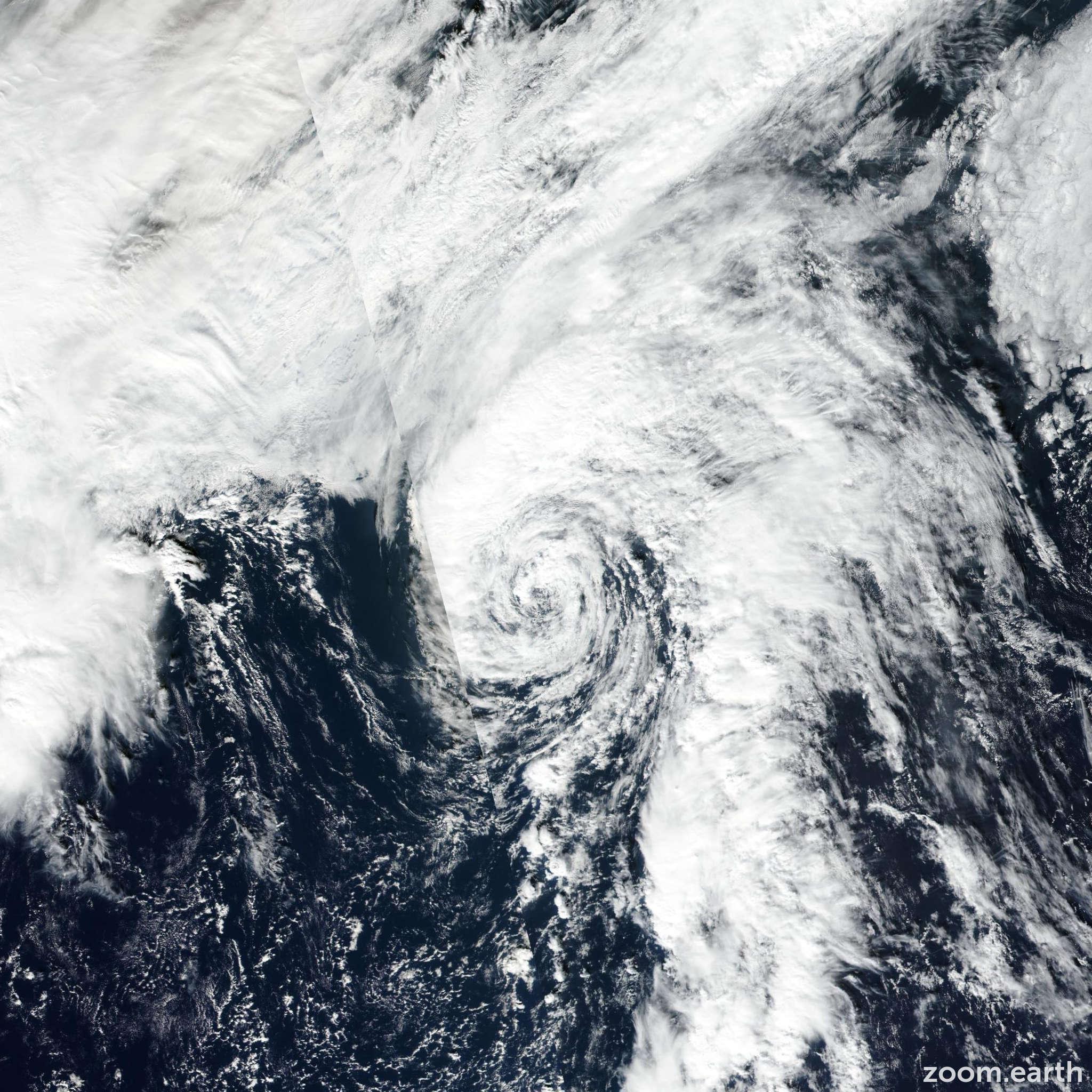 Satellite image of Storm Rina 2017