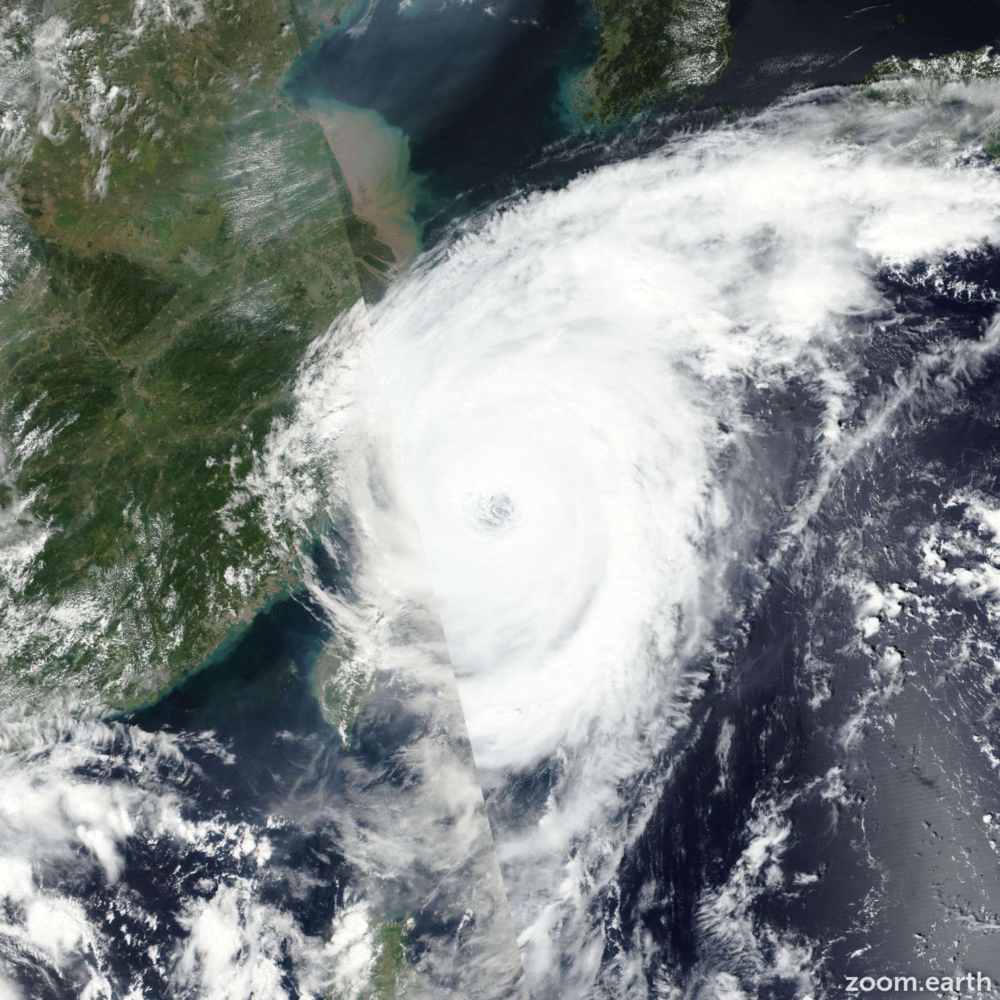 Satellite image of Typhoon Talim (Lannie) 2017